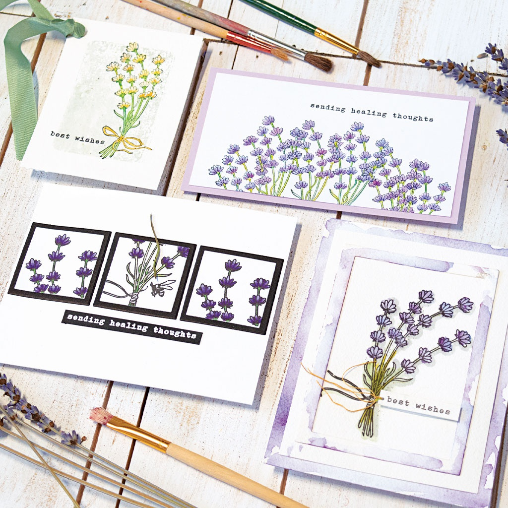 Hero Arts Clear Stamps 4X6-Hero Florals Lavender Bunch