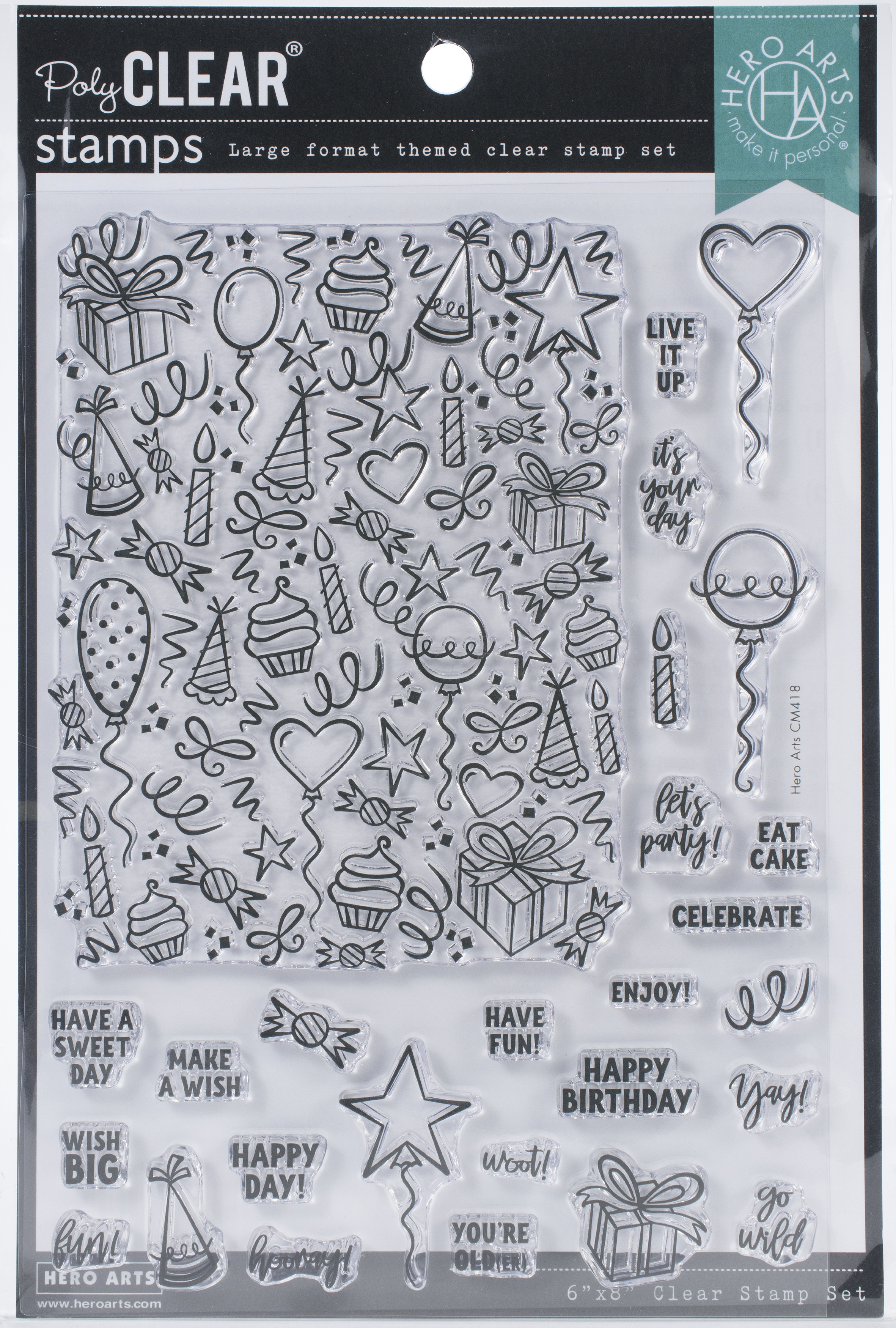 Hero Arts Clear Stamps 4X6-Wish Big Peek-A-Boo Parts