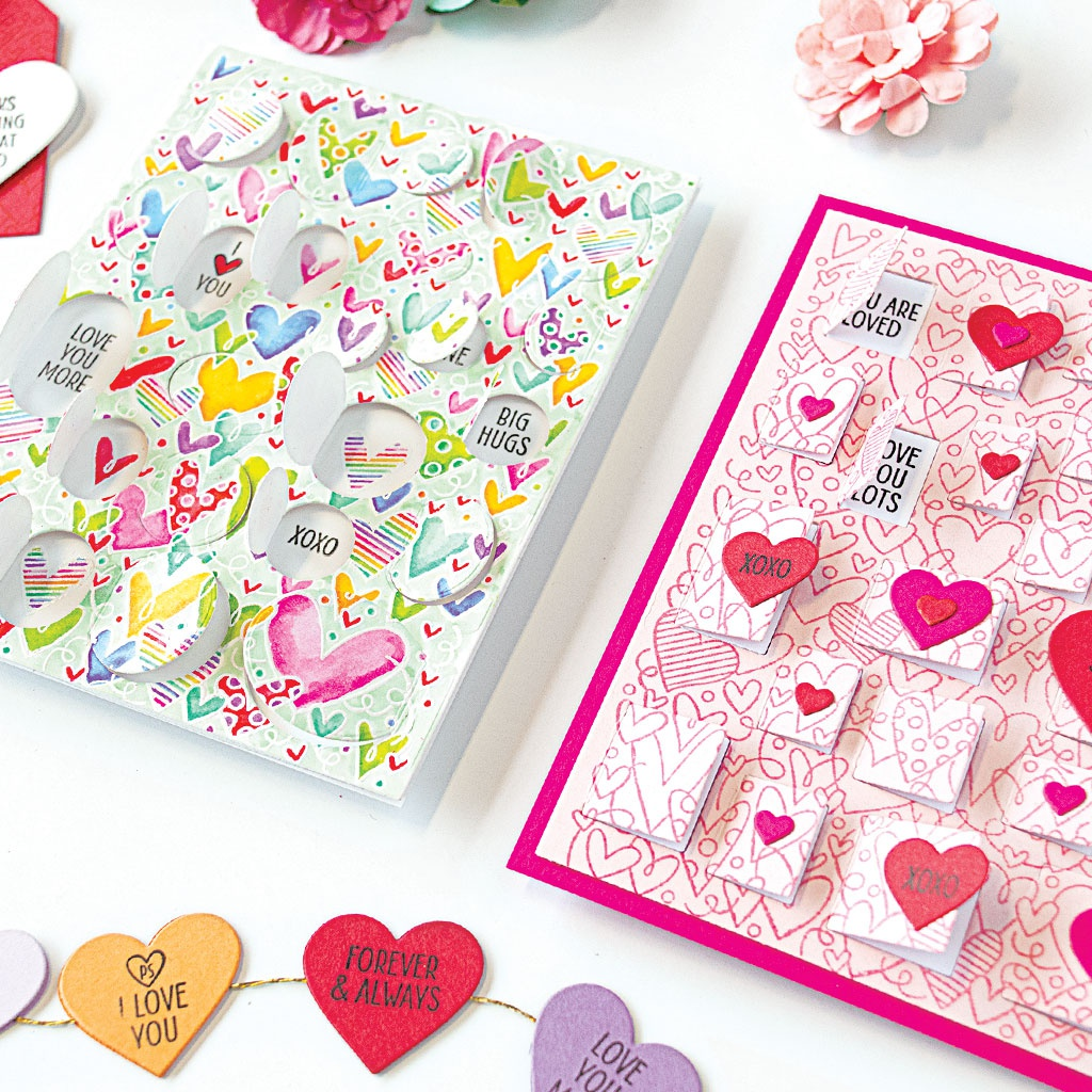 Hero Arts Clear Stamps 4X6-All My Heart Peek-A-Boo Parts