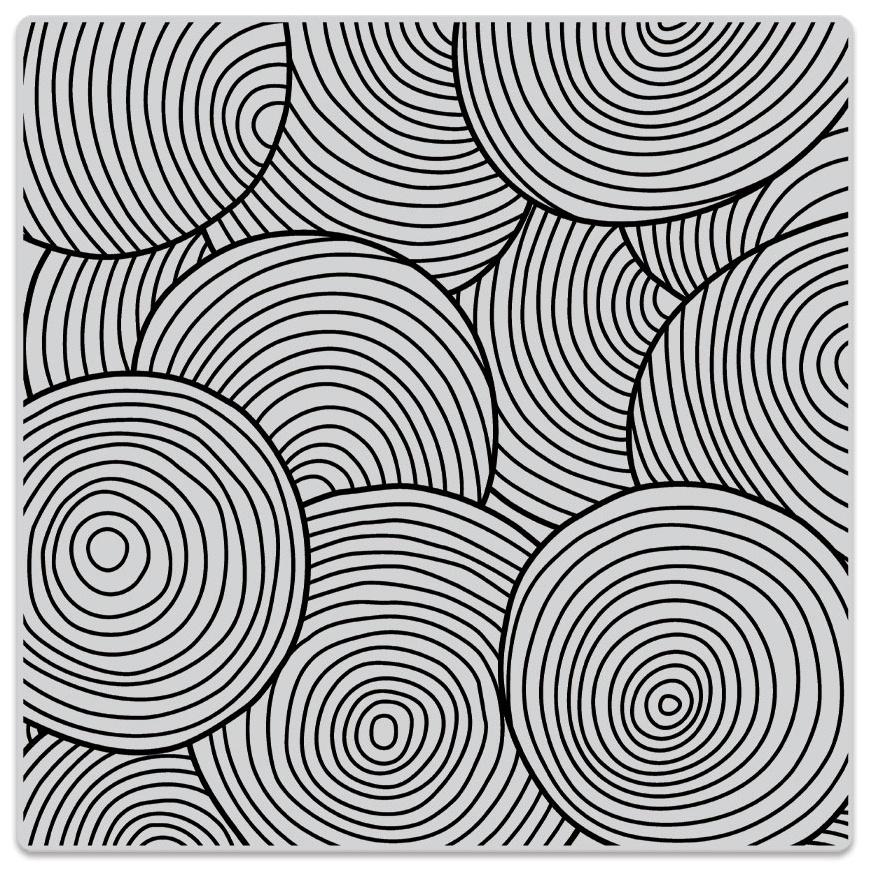 Hero Arts Cling Stamps 6X6-Circle Pattern Bold Prints