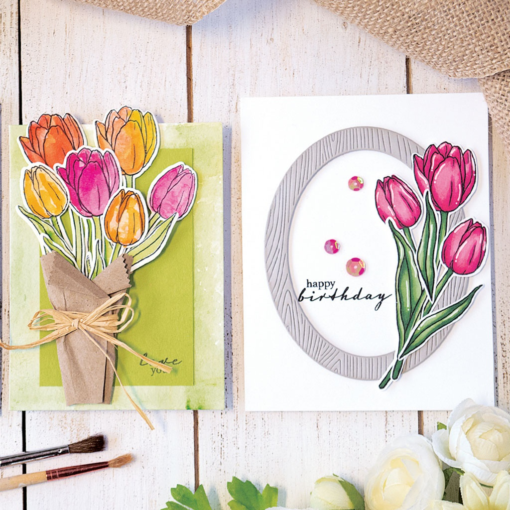 Hero Arts Mounted Rubber Stamp-Single Tulip