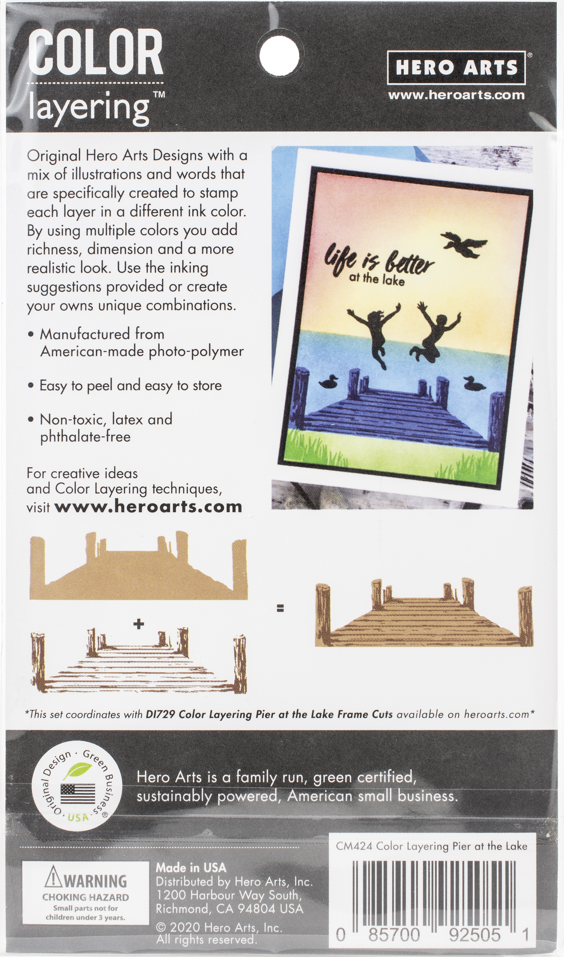 Hero Arts Color Layering Clear Stamps 4X6-Pier At The Lake