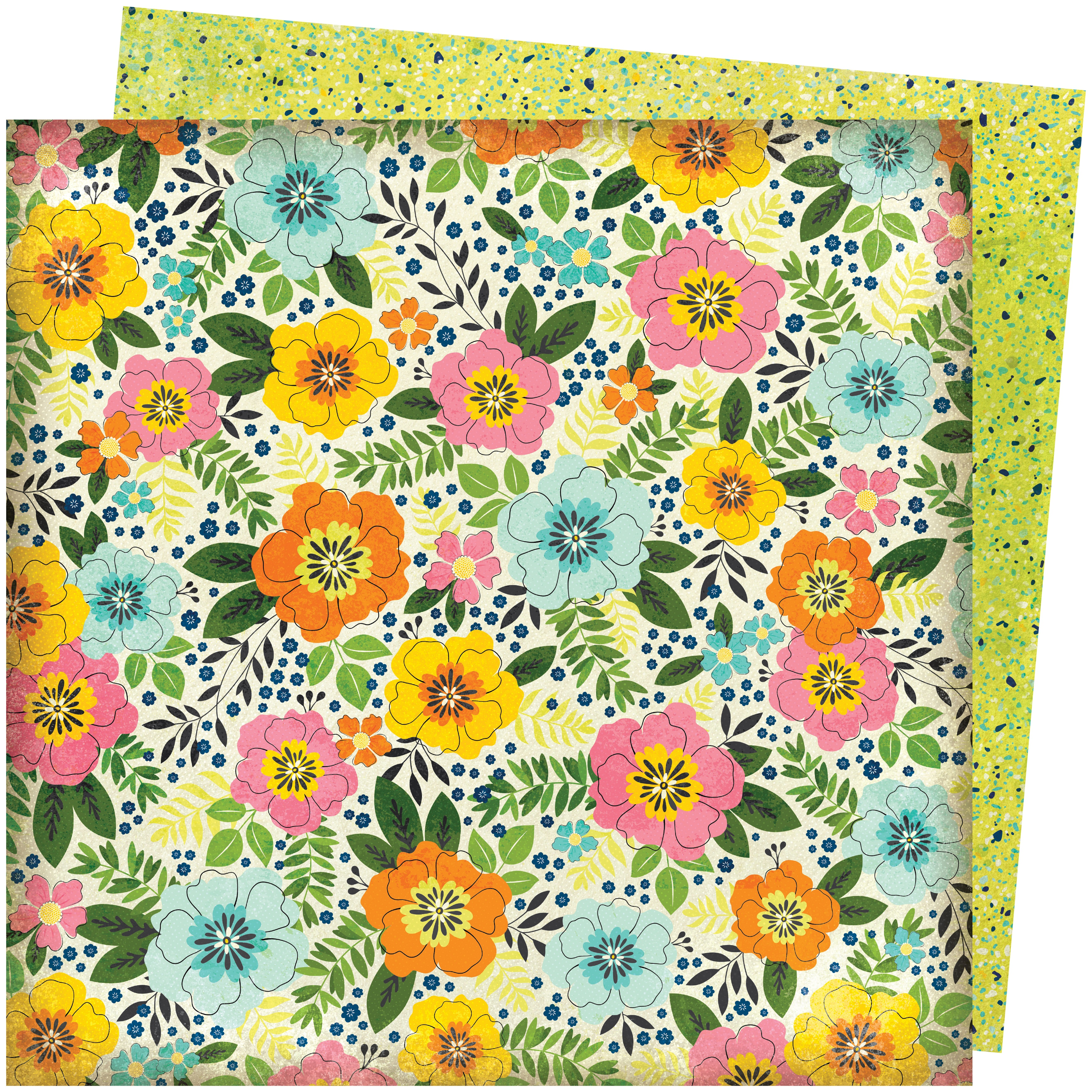 Vicki Boutin Let's Wander Double-Sided Cardstock 12X12-Sunshine & Smiles