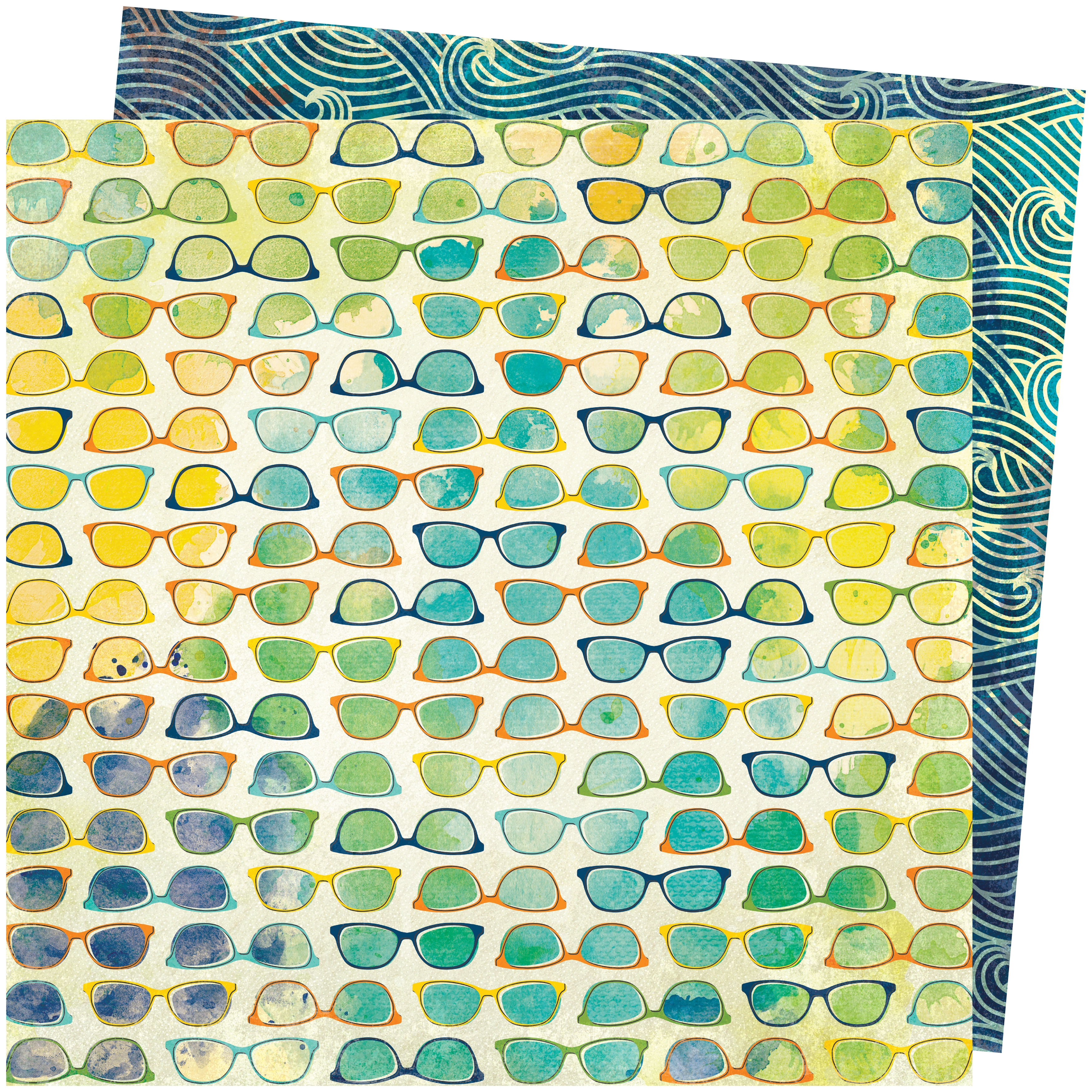 Vicki Boutin Let's Wander Double-Sided Cardstock 12X12-Beach Vibe