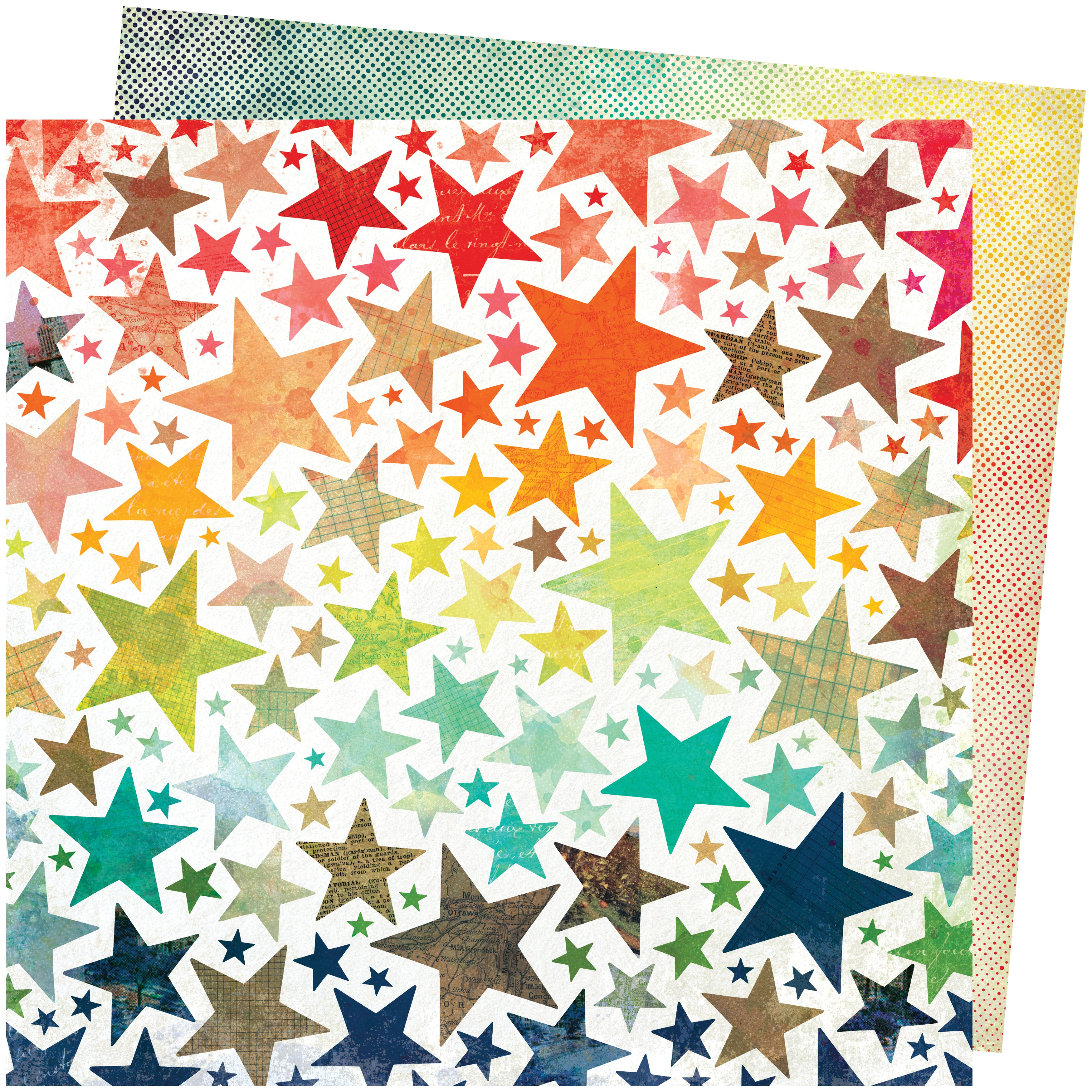 Vicki Boutin Let's Wander Double-Sided Cardstock 12X12-Chasing Stars