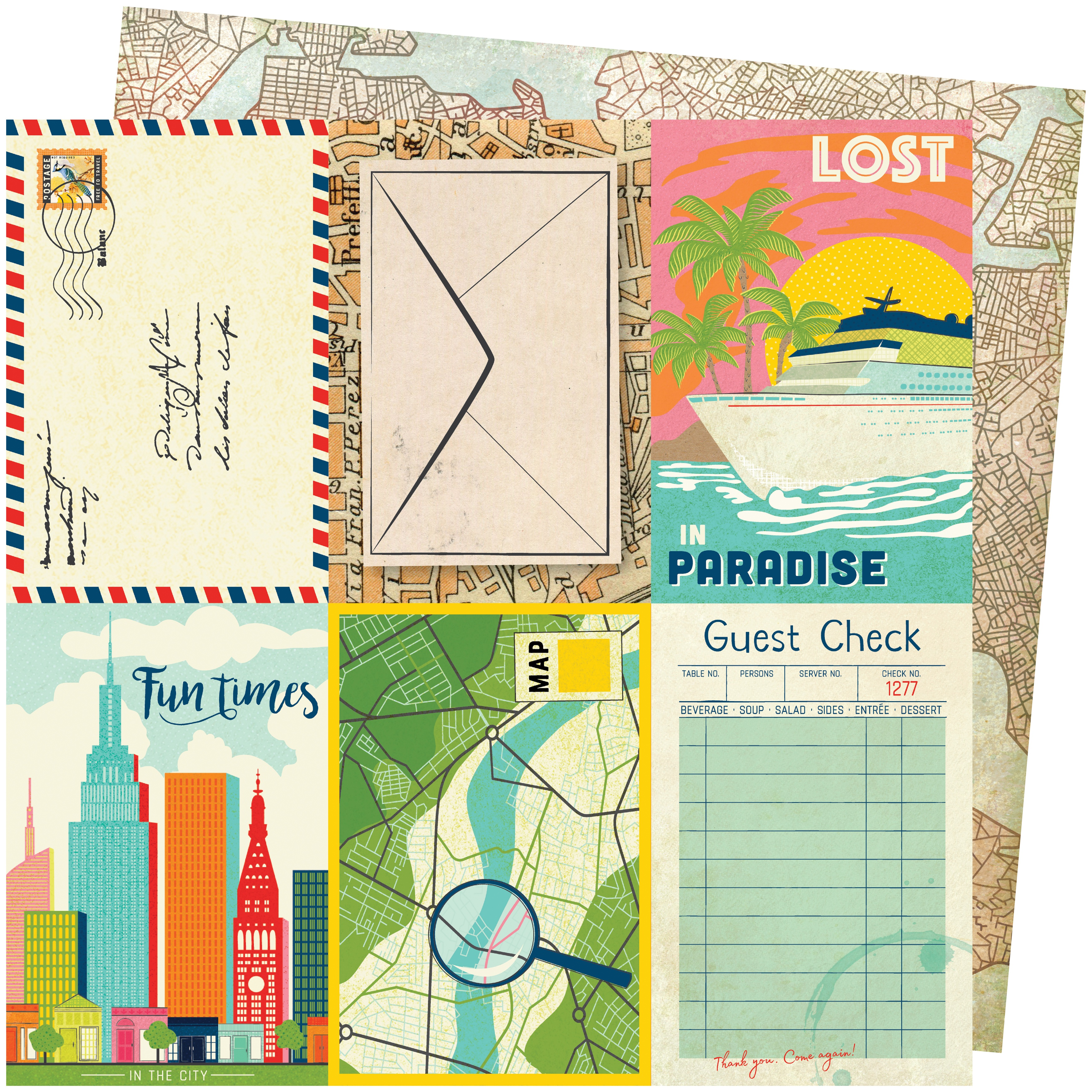 Vicki Boutin Let's Wander Double-Sided Cardstock 12X12-Lost In Paradise