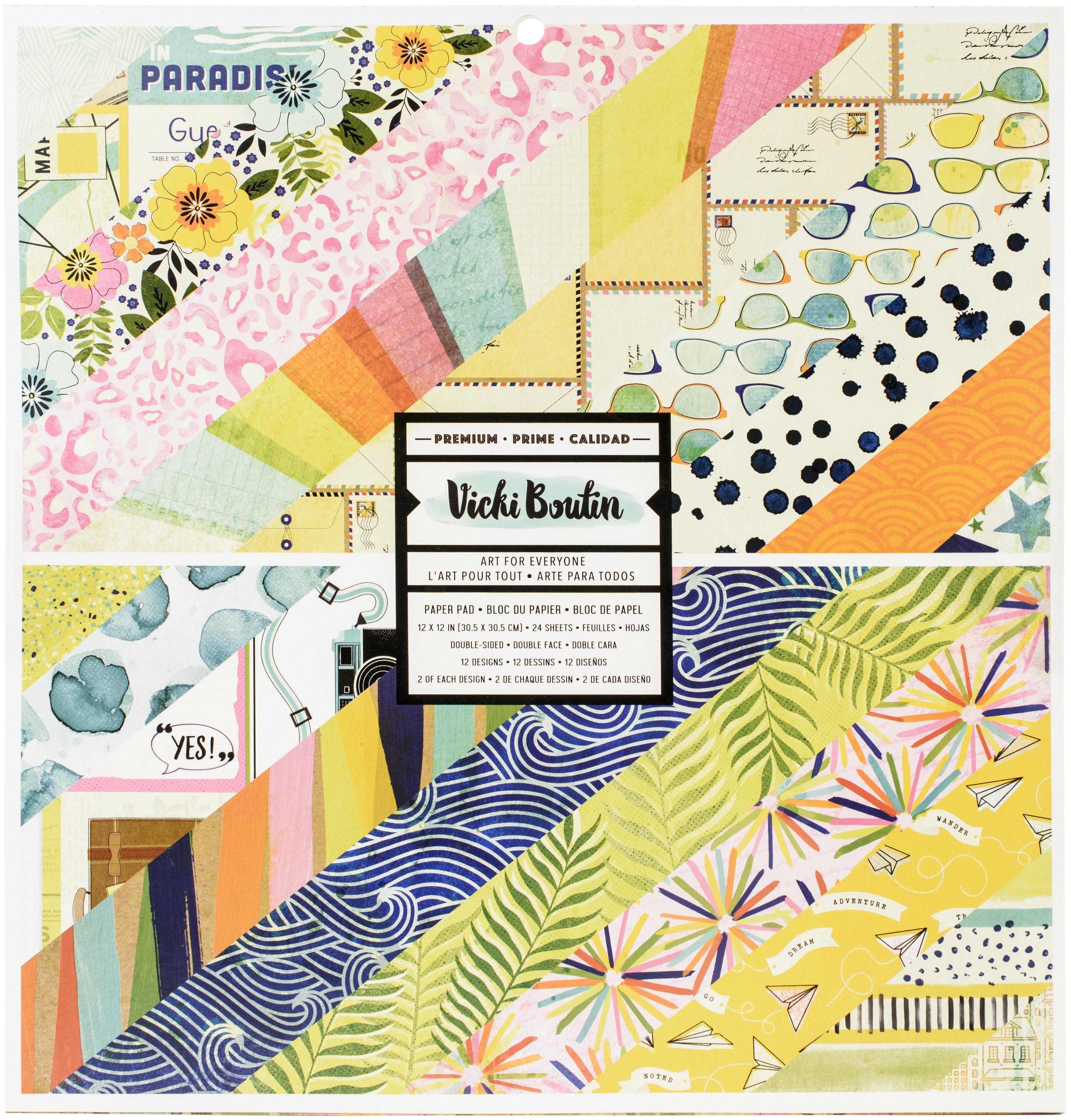American Crafts Double-Sided Paper Pad 12X12 24/Pkg-Vicki Boutin Let's Wander