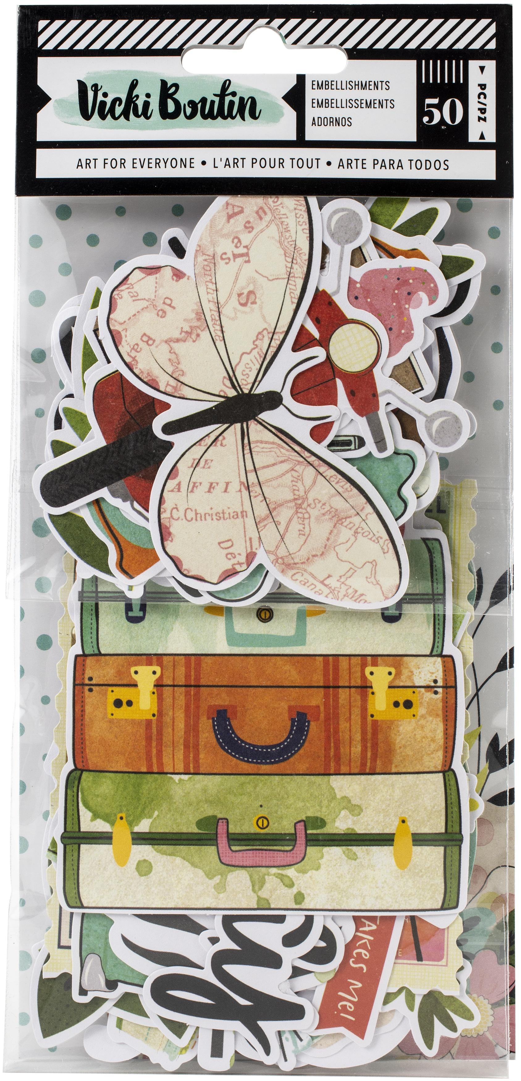 Vicki Boutin Let's Wander Ephemera Cardstock Die-Cuts 50/Pkg-