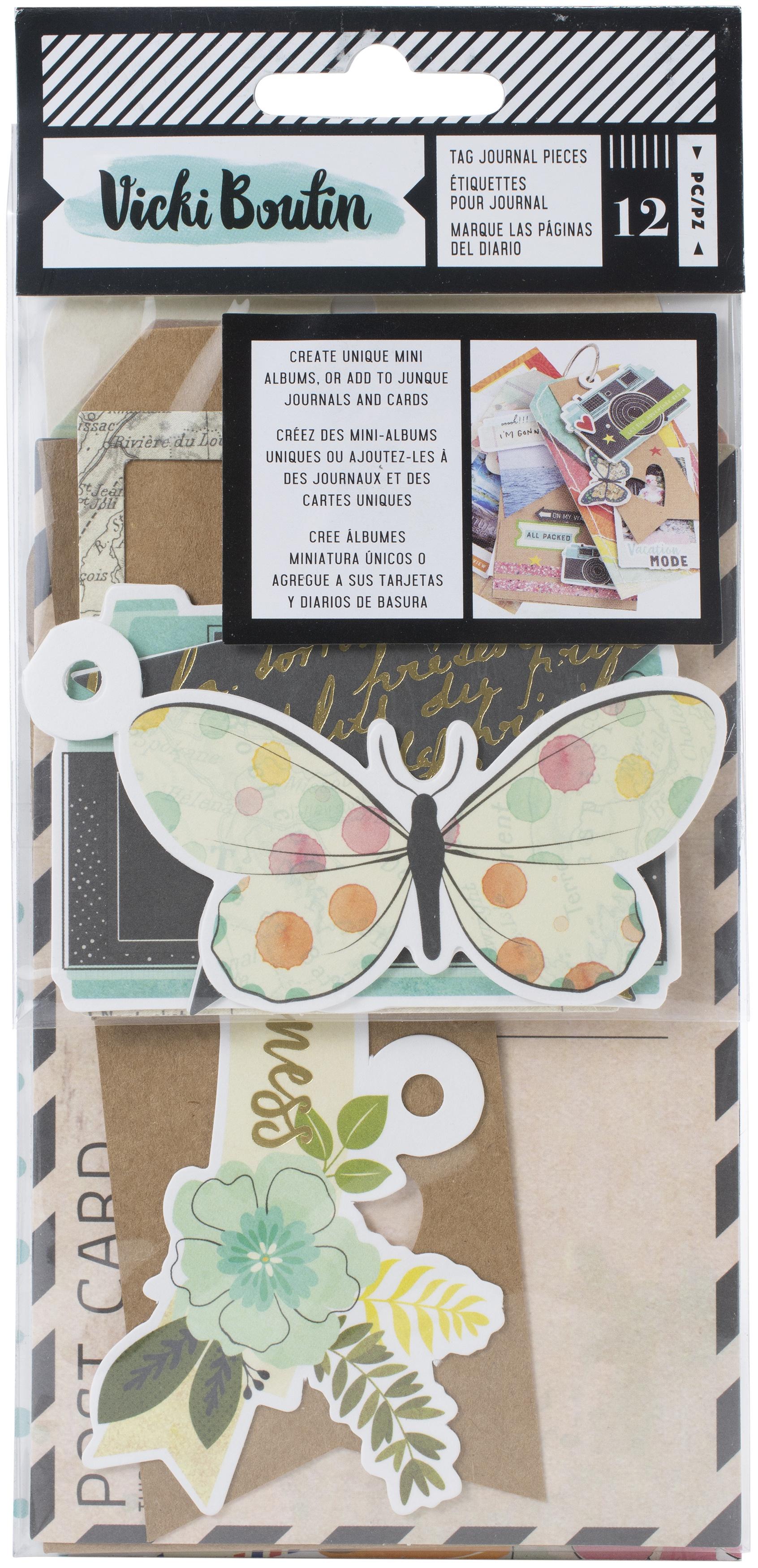 ^Vicki Boutin - Let's Wander - Tag Journal Pieces, 12/Pkg
