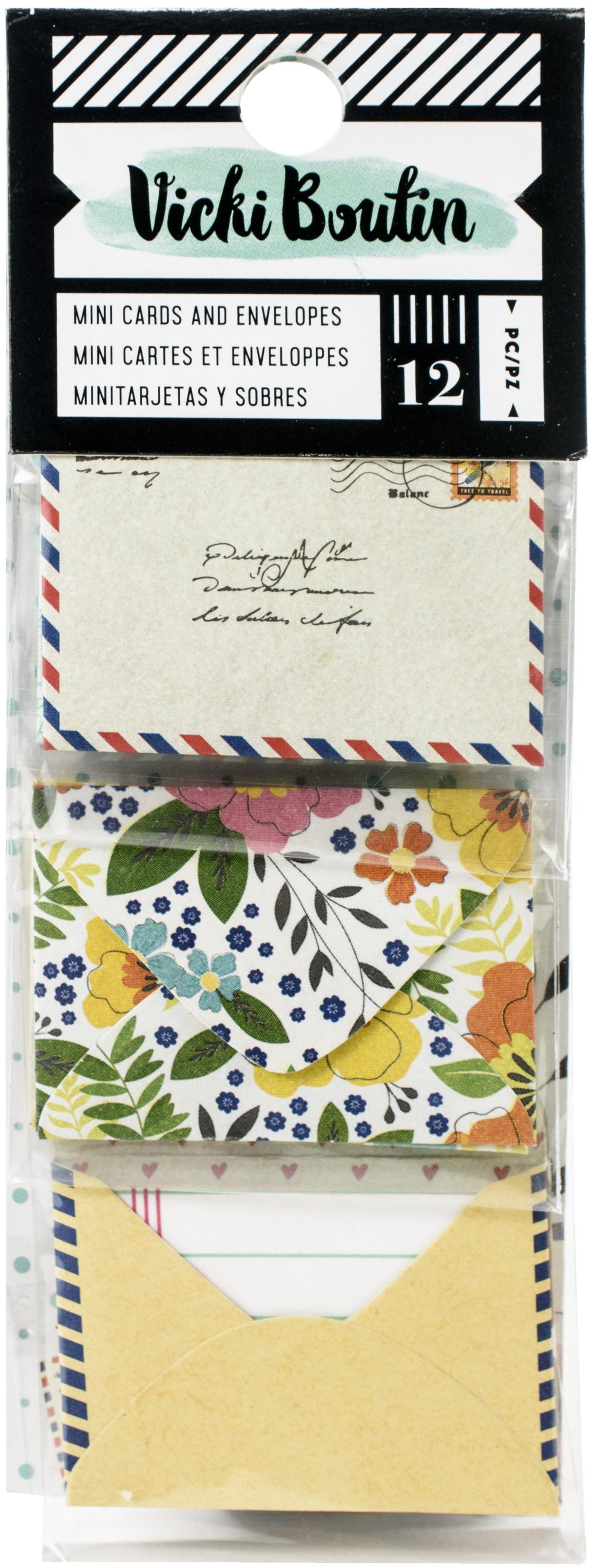 Vicki Boutin Let's Wander Mini Envelopes W/Cards-(6) Cards & (6) Envelopes