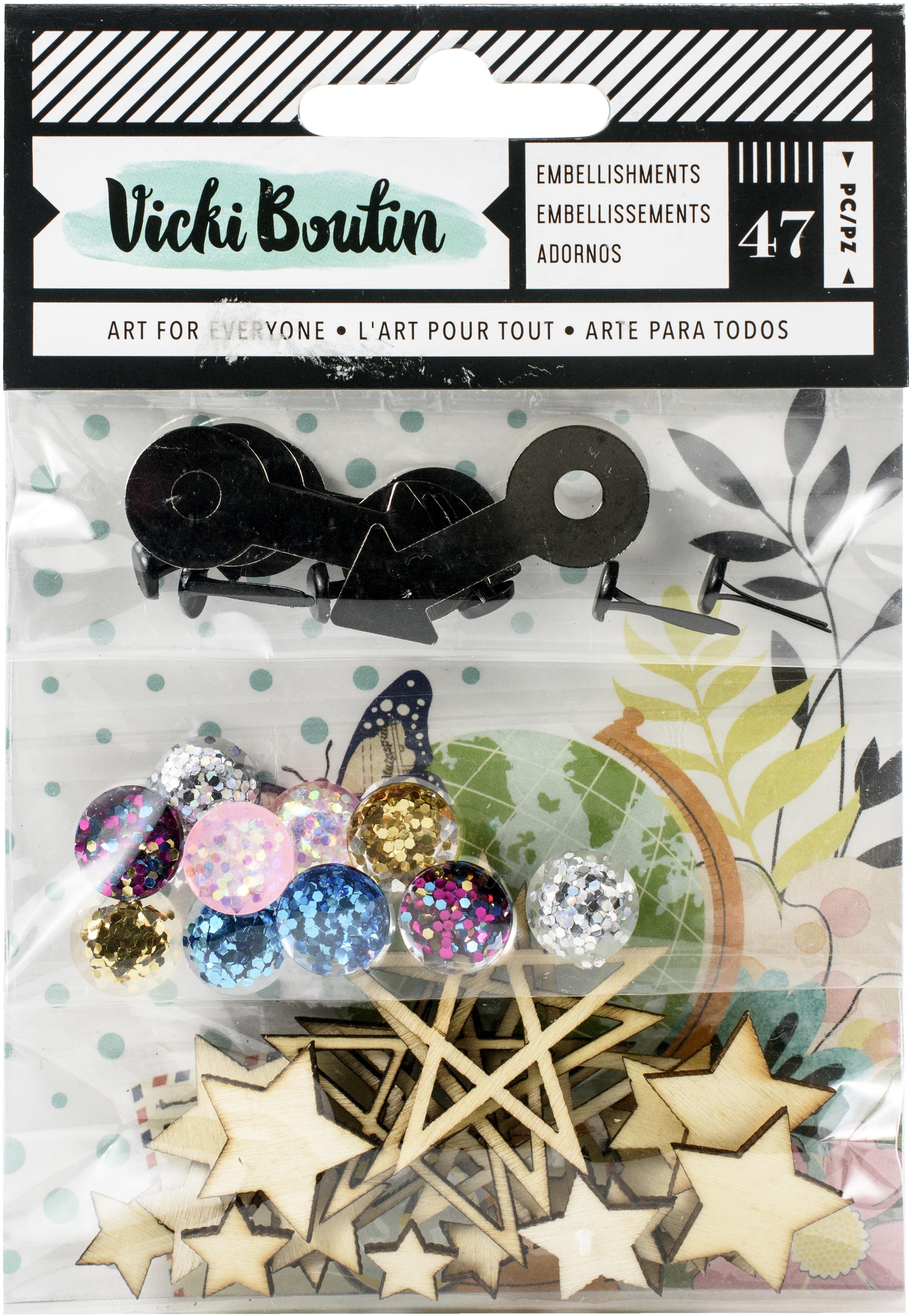 Let's Wander Embellishment Pack-