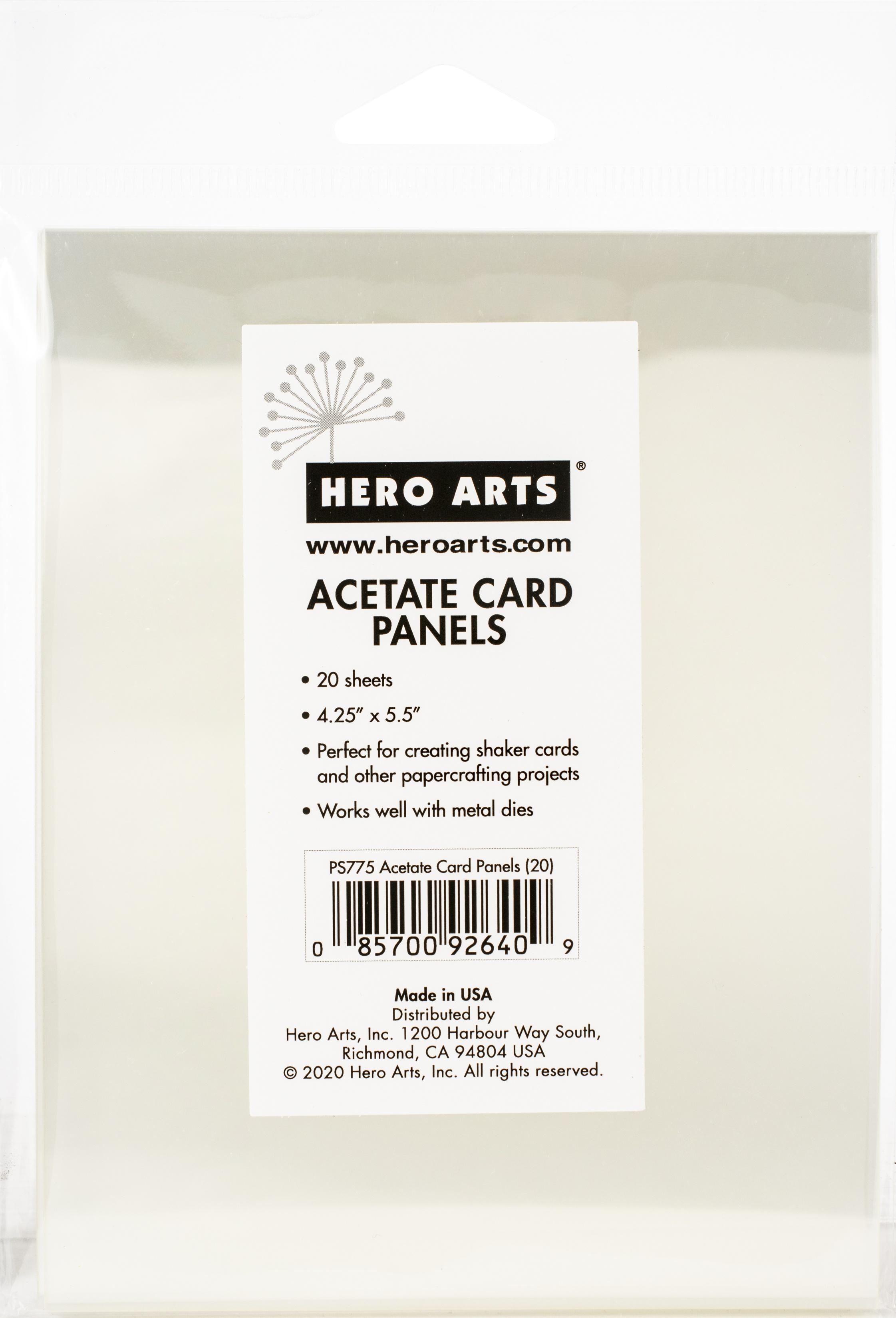 Hero Arts Acetete Card Panels 20/Pkg