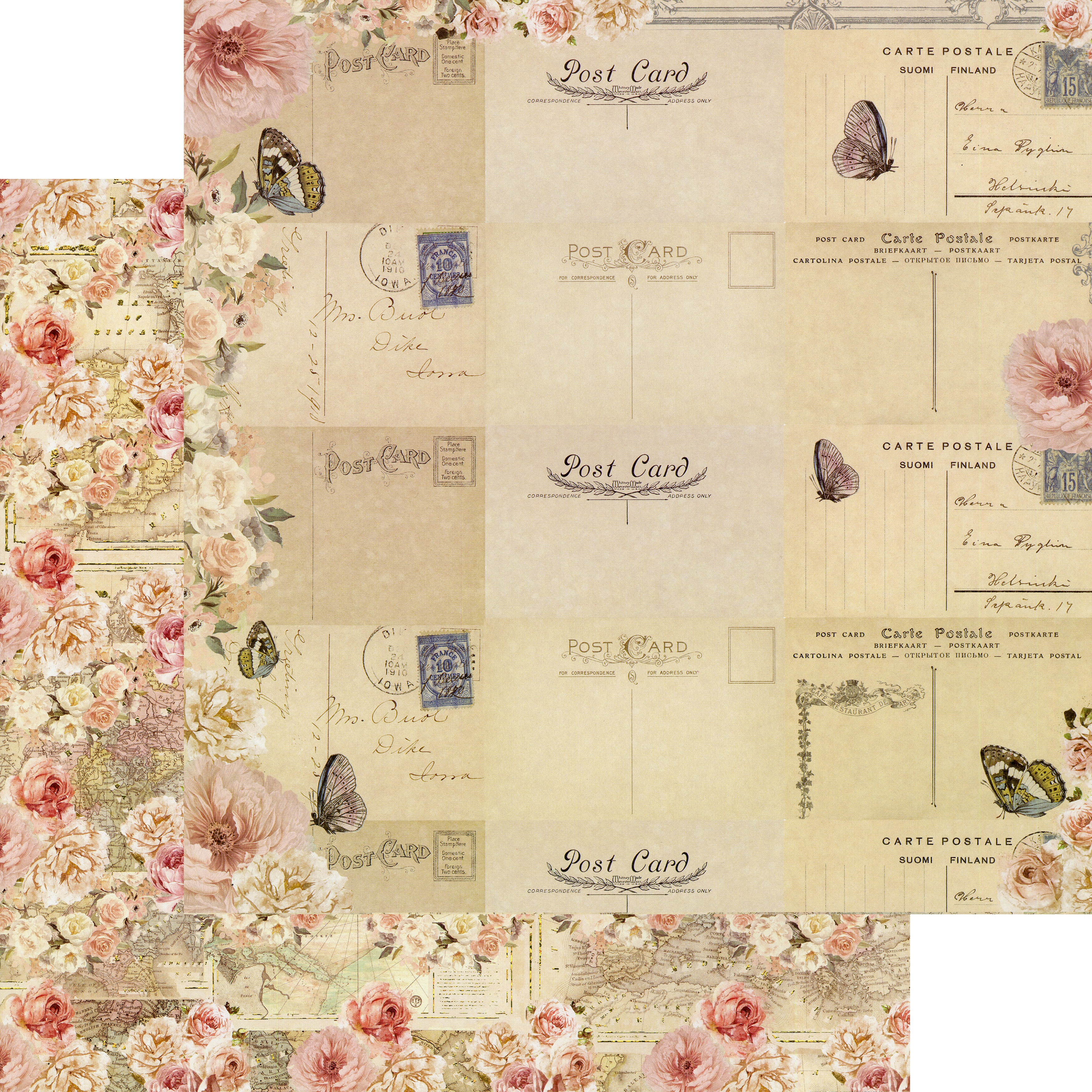Capri Double-Sided Cardstock 12X12-Arco Naturale