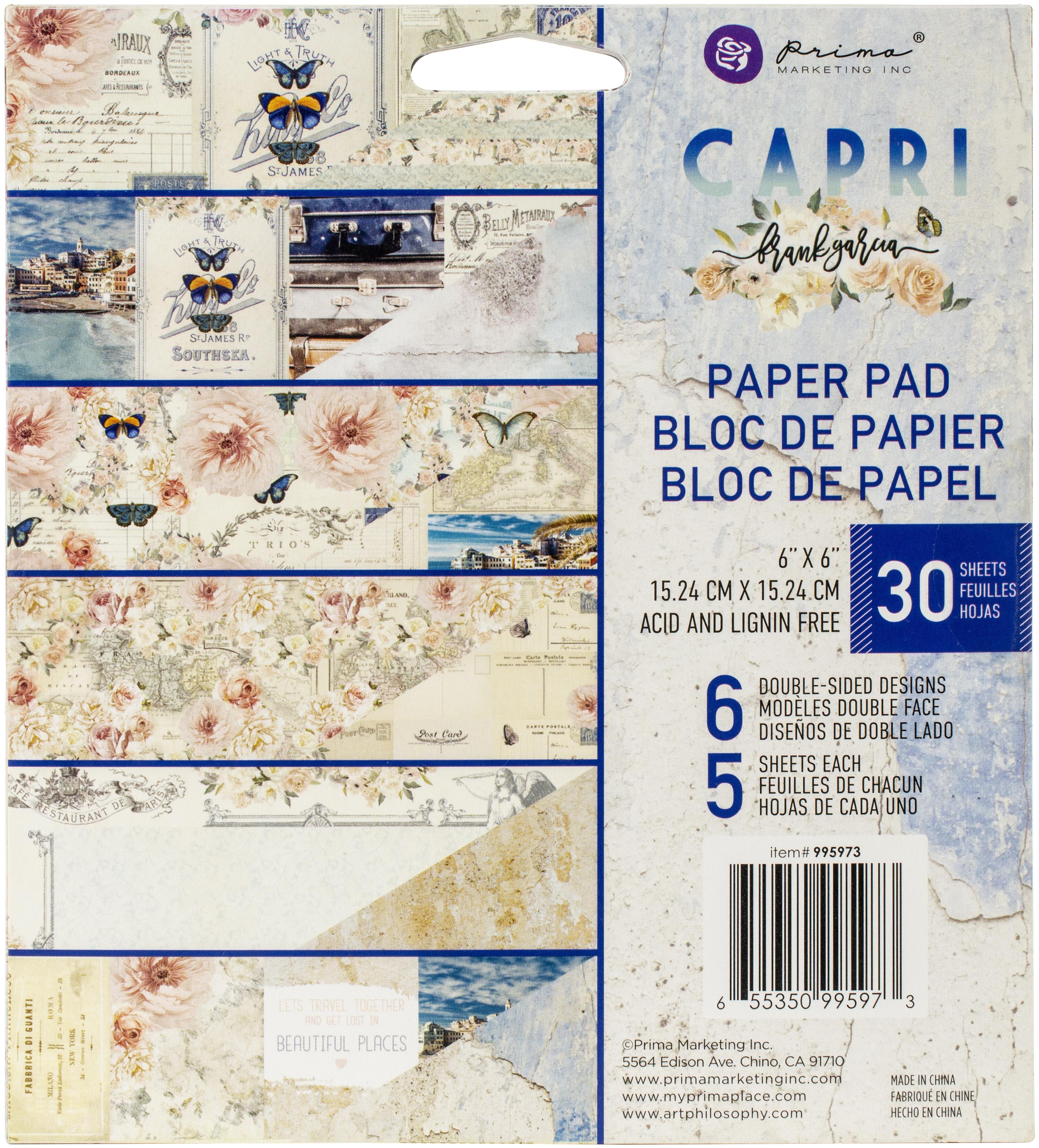 Prima Marketing Capri Paper Pad 6x6