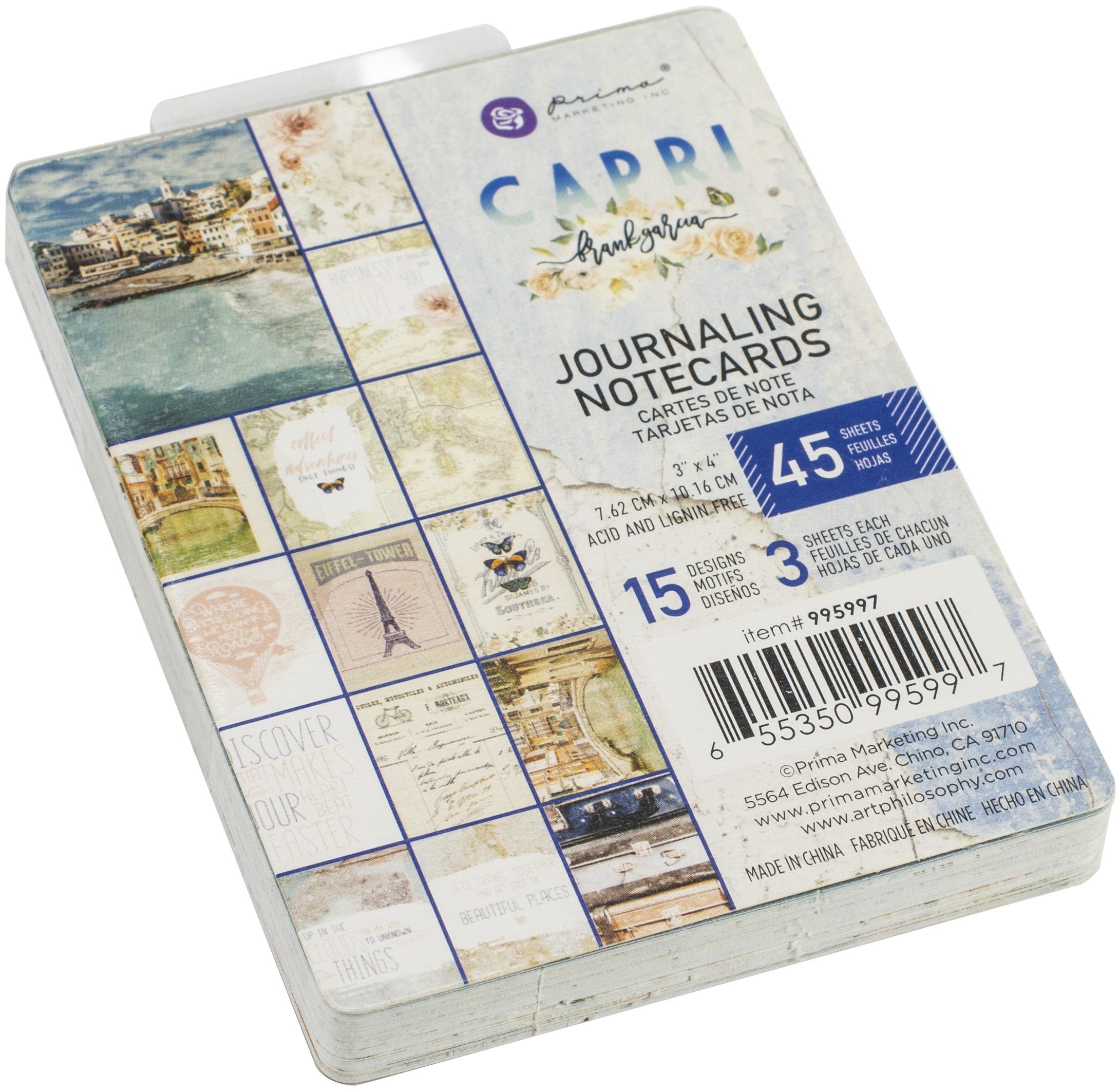 Capri Journaling Cards 3X4