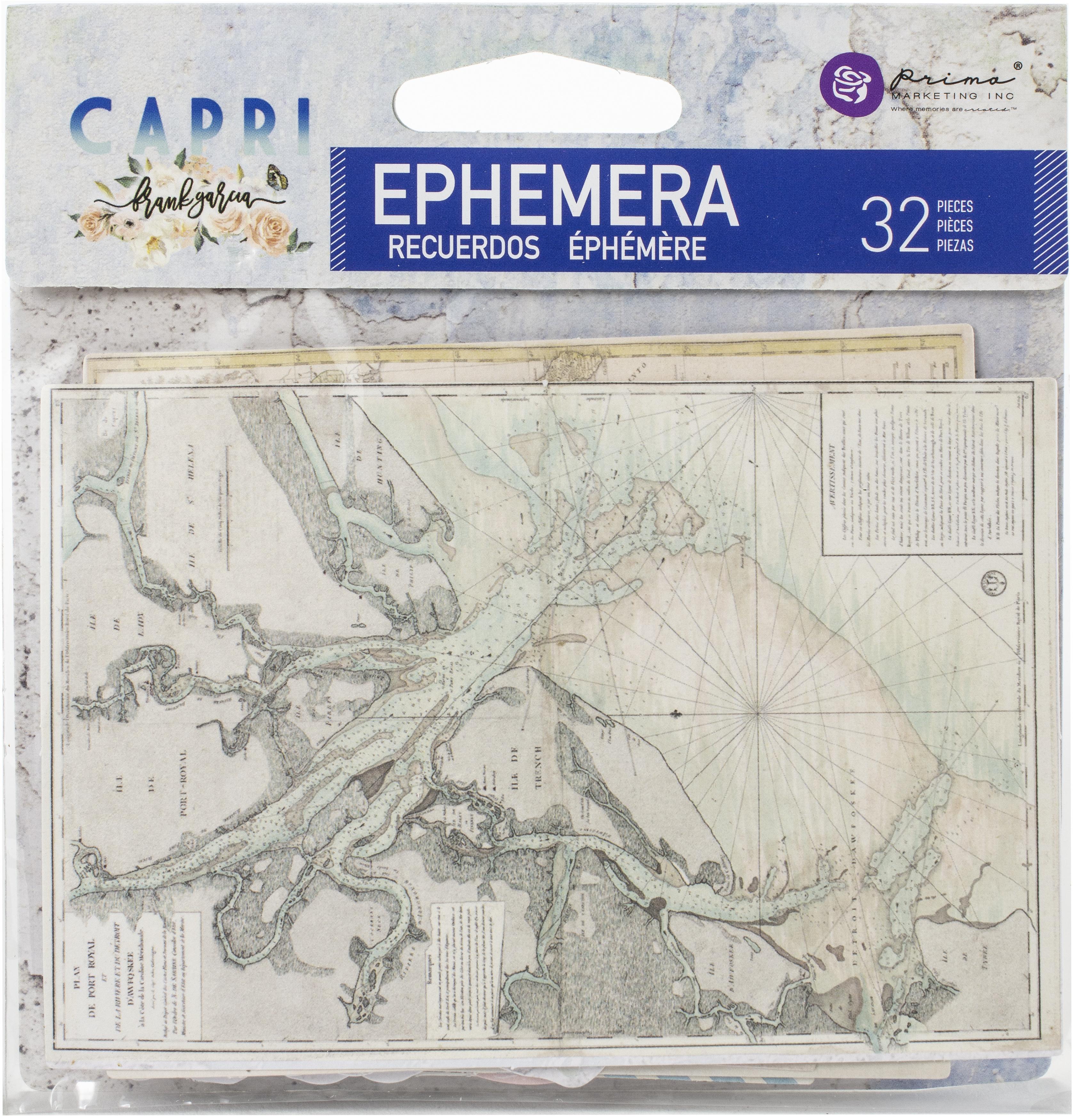 Capri Cardstock Ephemera 32/Pkg-Shapes, Tags, Words, Foiled Accents
