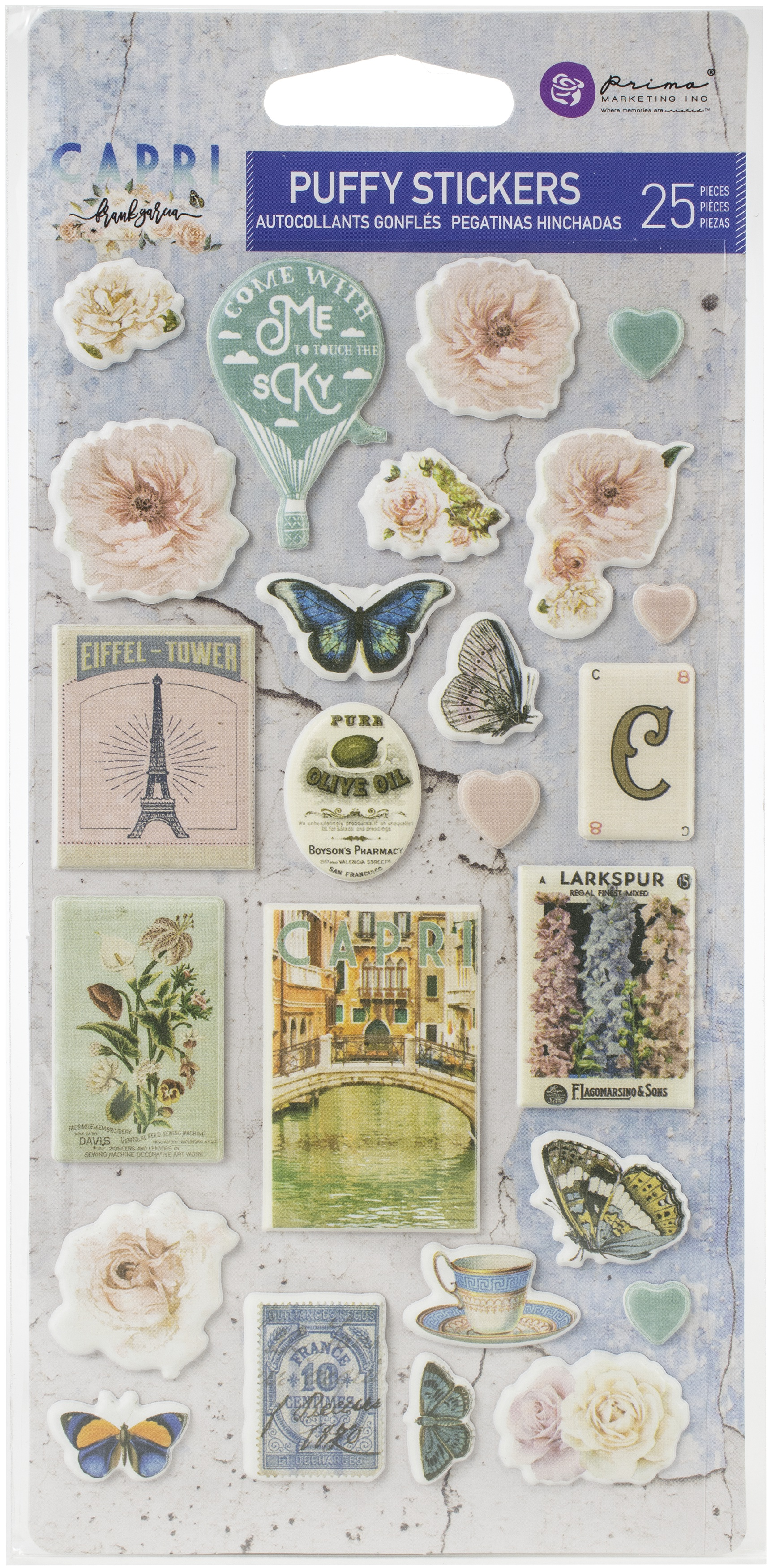 Capri Puffy Stickers 25/Pkg-