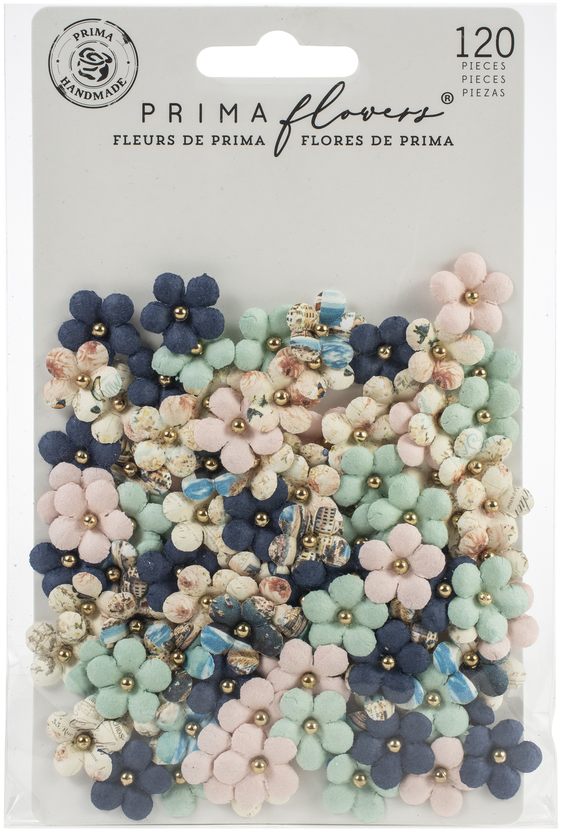 Prima Marketing Mulberry Paper Flowers-Aurora Bay/Capri