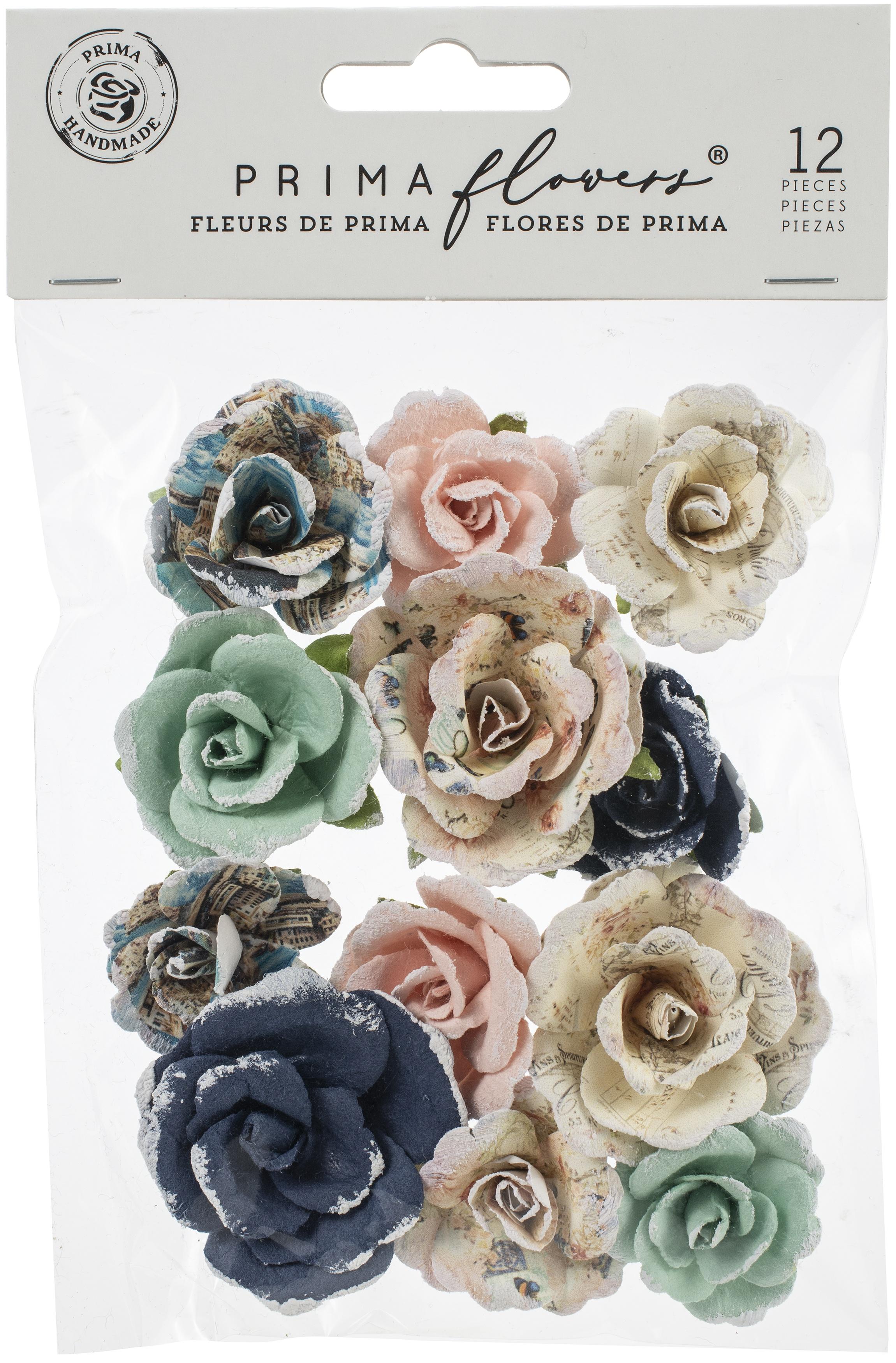 Prima Marketing Mulberry Paper Flowers-Paraiso Shore/Capri