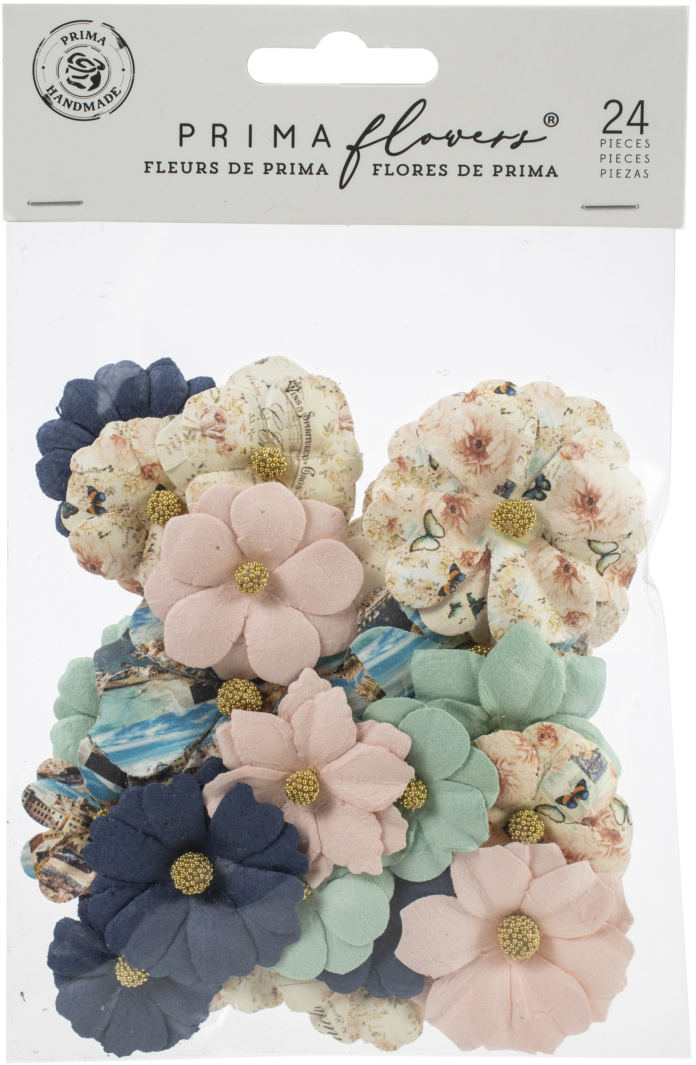Prima Marketing Mulberry Paper Flowers-Mare Verde/Capri