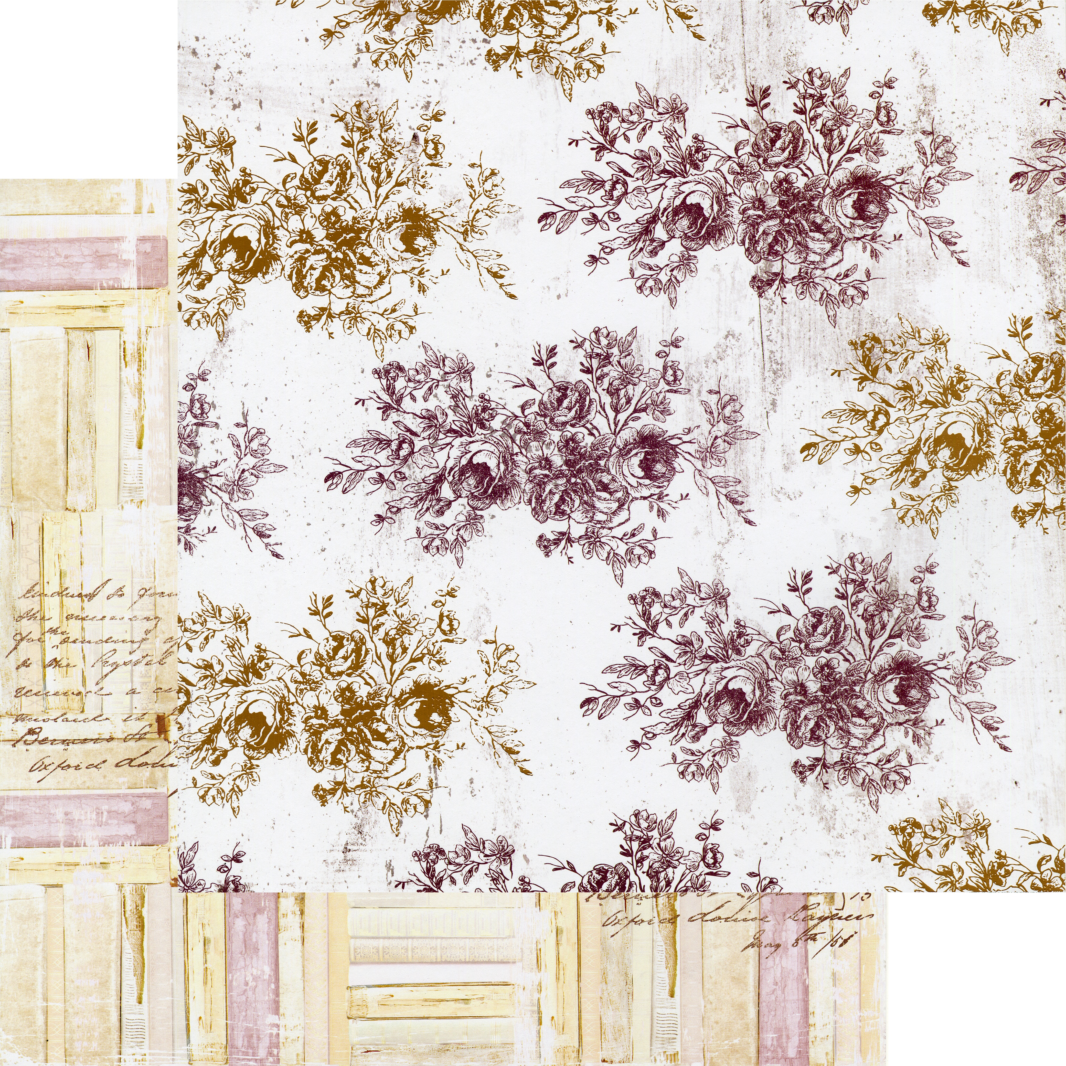 Pretty Mosaic Double-Sided Cardstock 12X12-Floral Toile