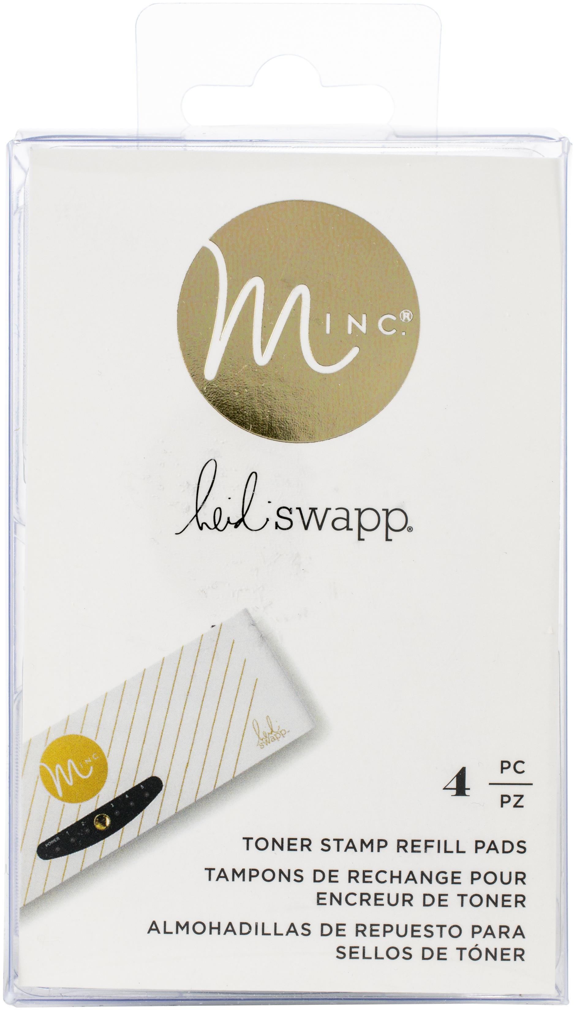 Heidi Swapp Minc Toner Stamping Stamp Pad Refills 4/Pkg-