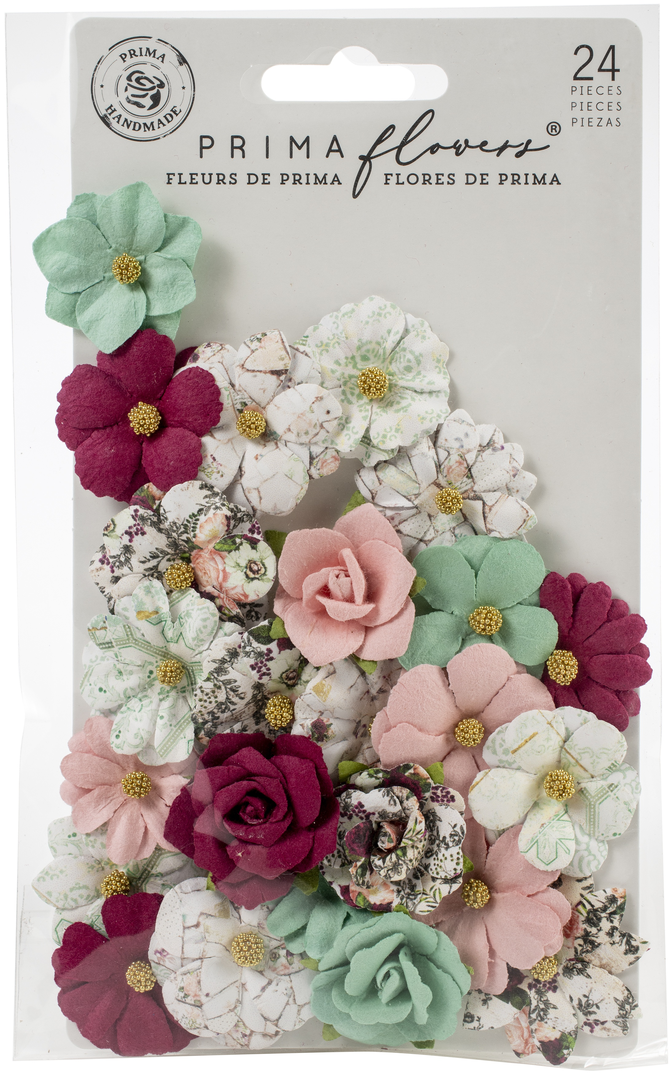 Pretty Mosaic Paper Flowers-Larimar