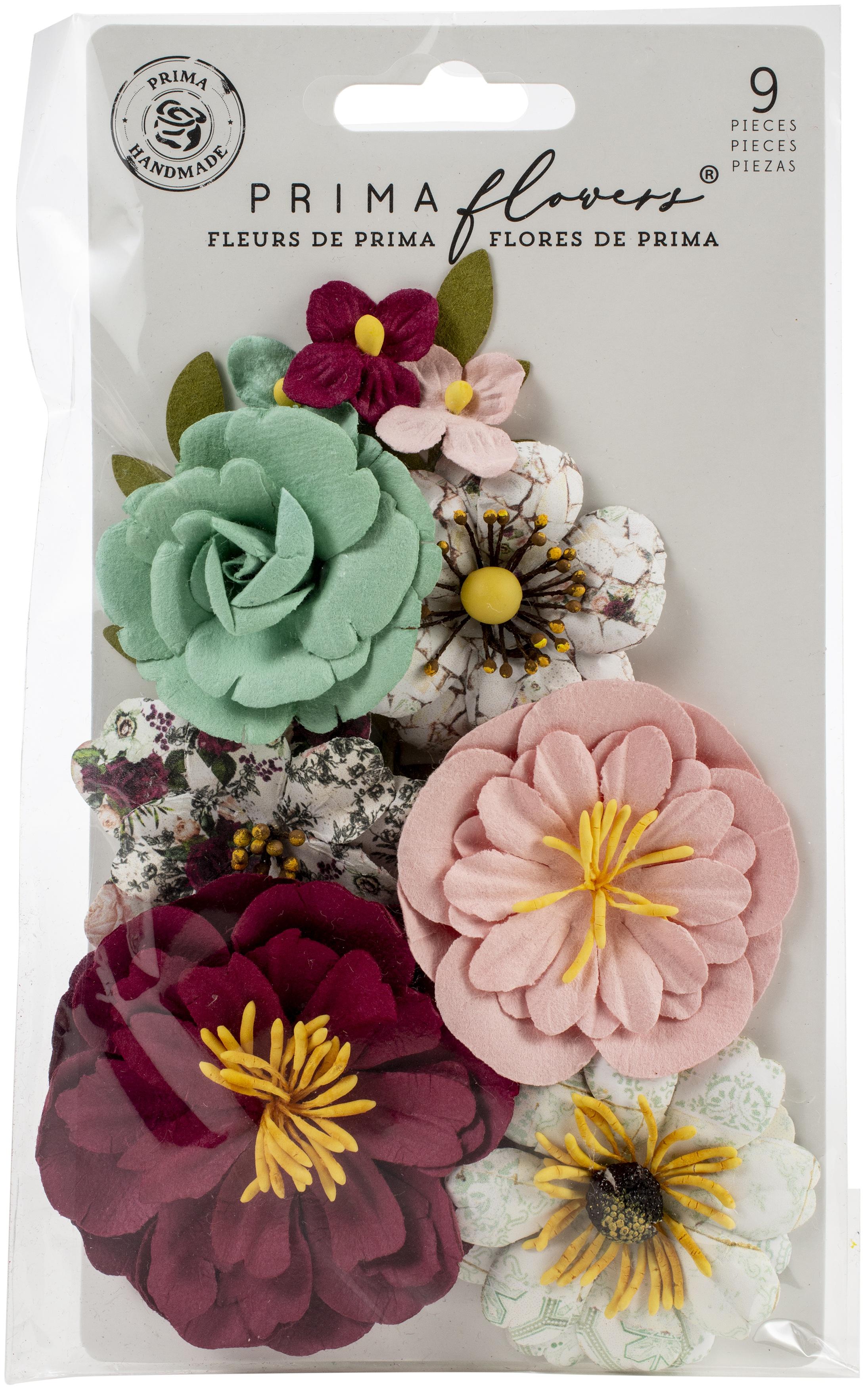 Prima Marketing Mulberry Paper Flowers-Emerald Dream/Pretty Mosaic