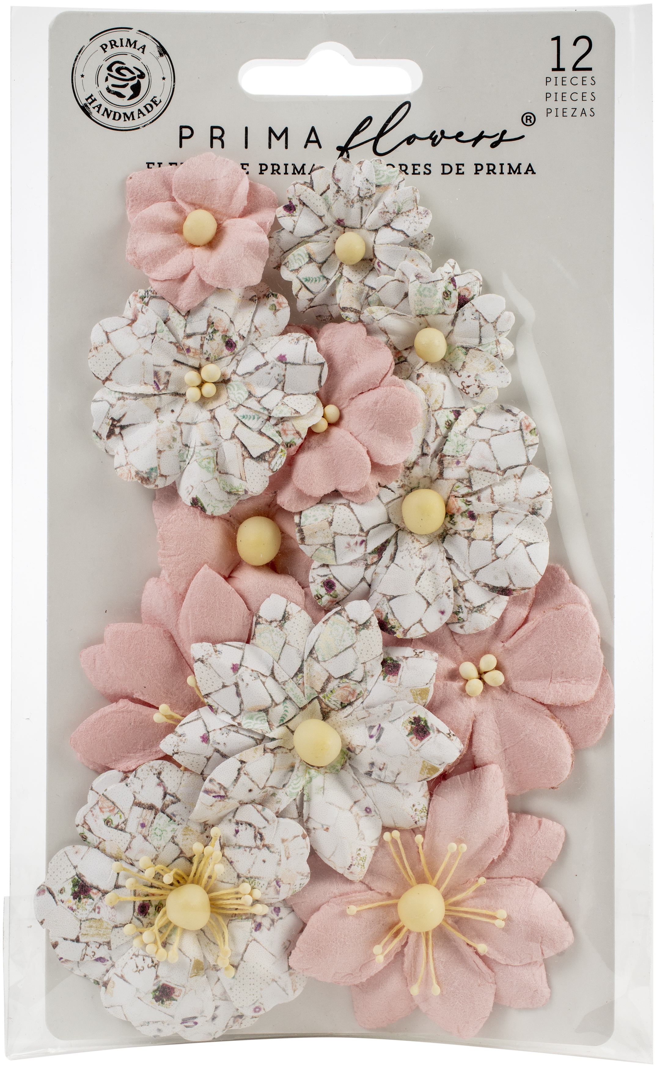 Pretty Mosaic Cracked Marble Mulberry Paper Flowers