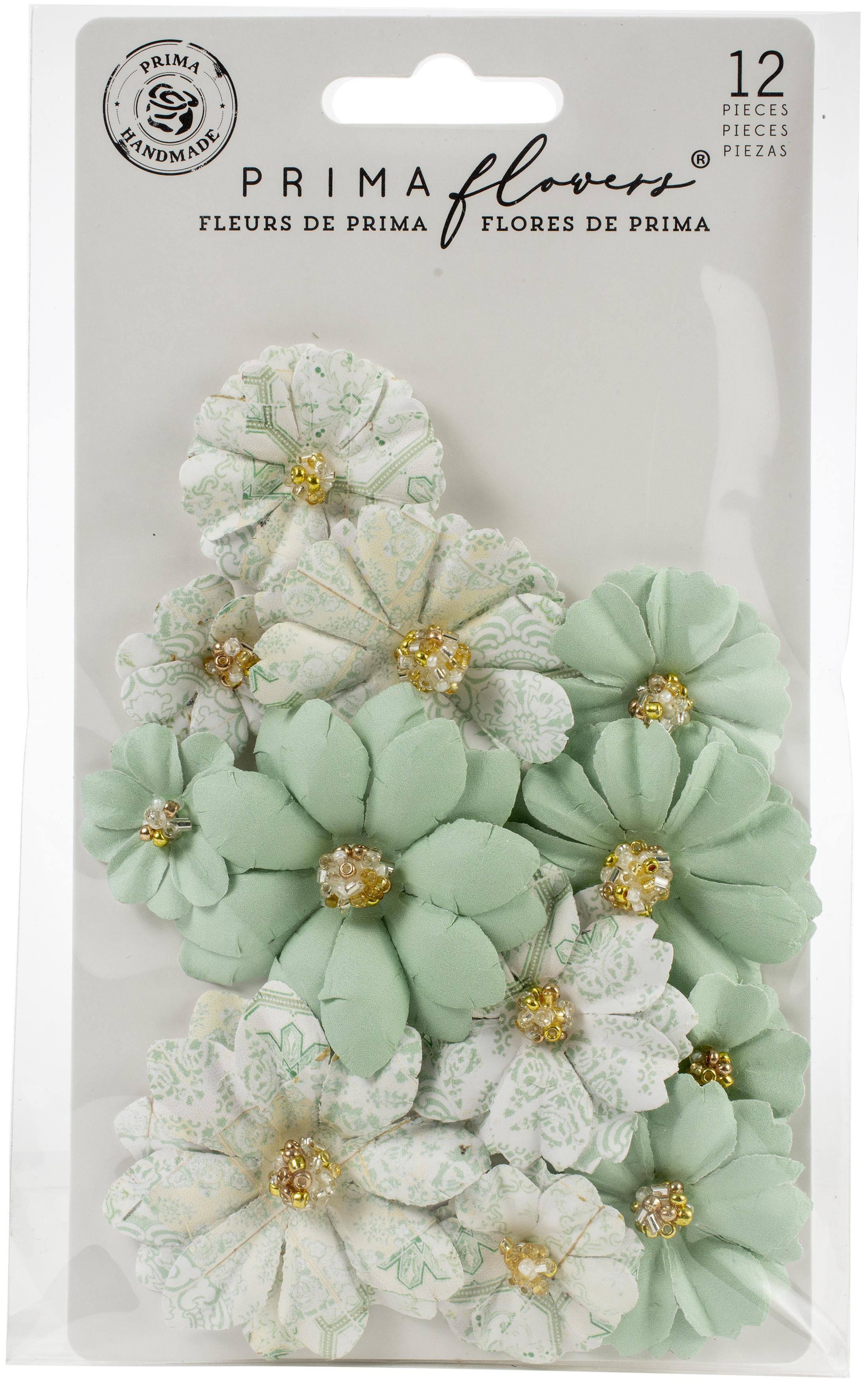 Pretty Mosaic Paper Flowers-Jade
