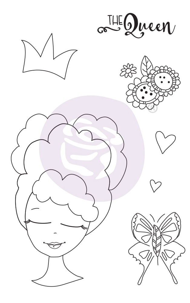 Prima Marketing Julie Nutting Mixed Media Cling Rubber Stamp-Clarissa