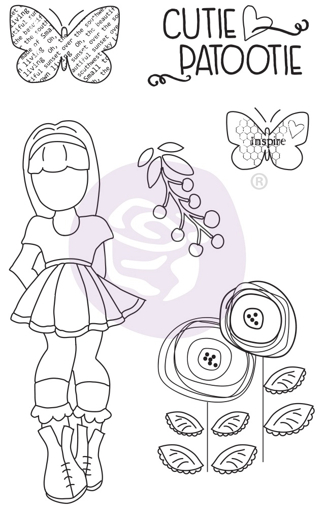 Prima Marketing Julie Nutting Mixed Media Cling Rubber Stamp-Ivy