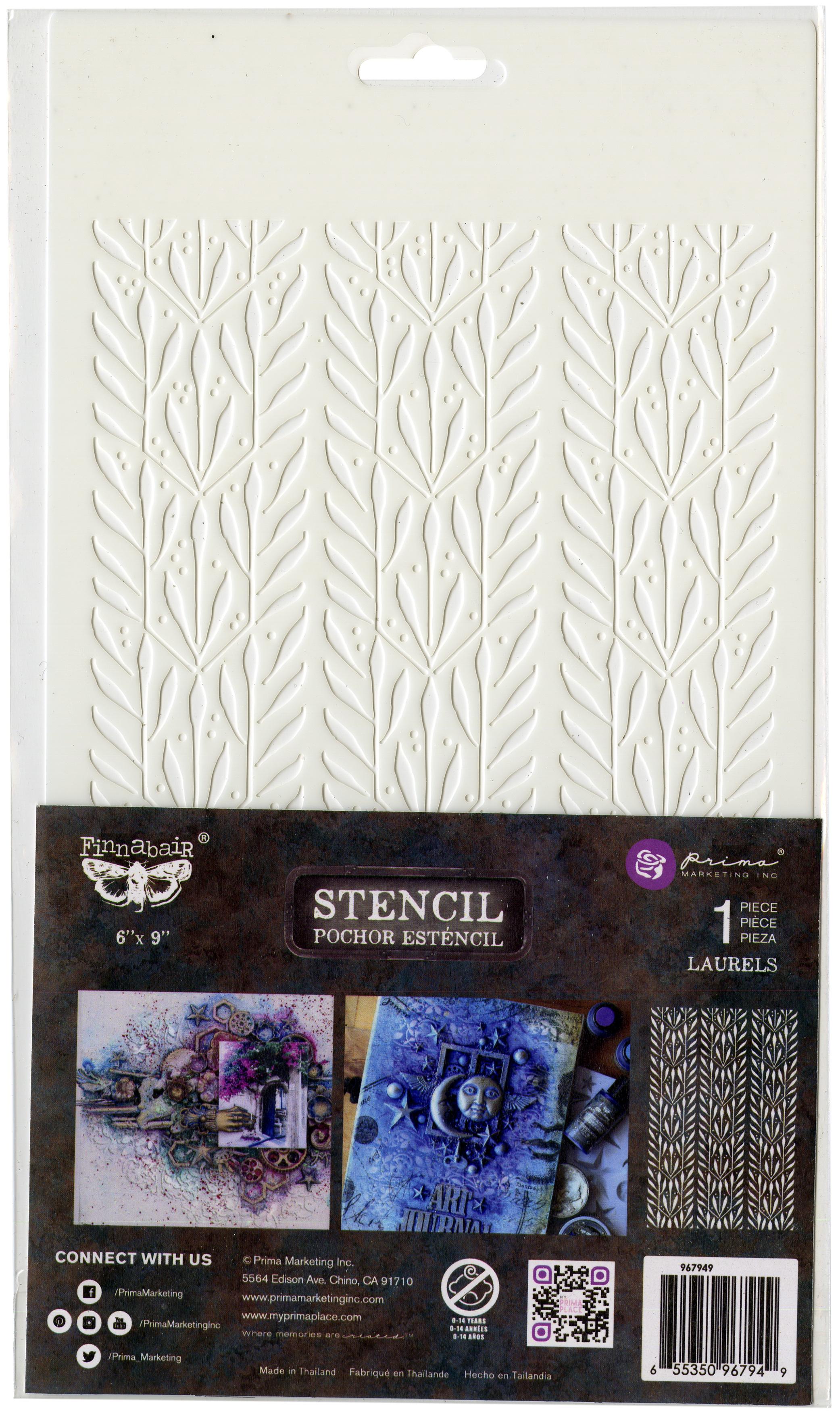 Laurels 6x9 Stencil