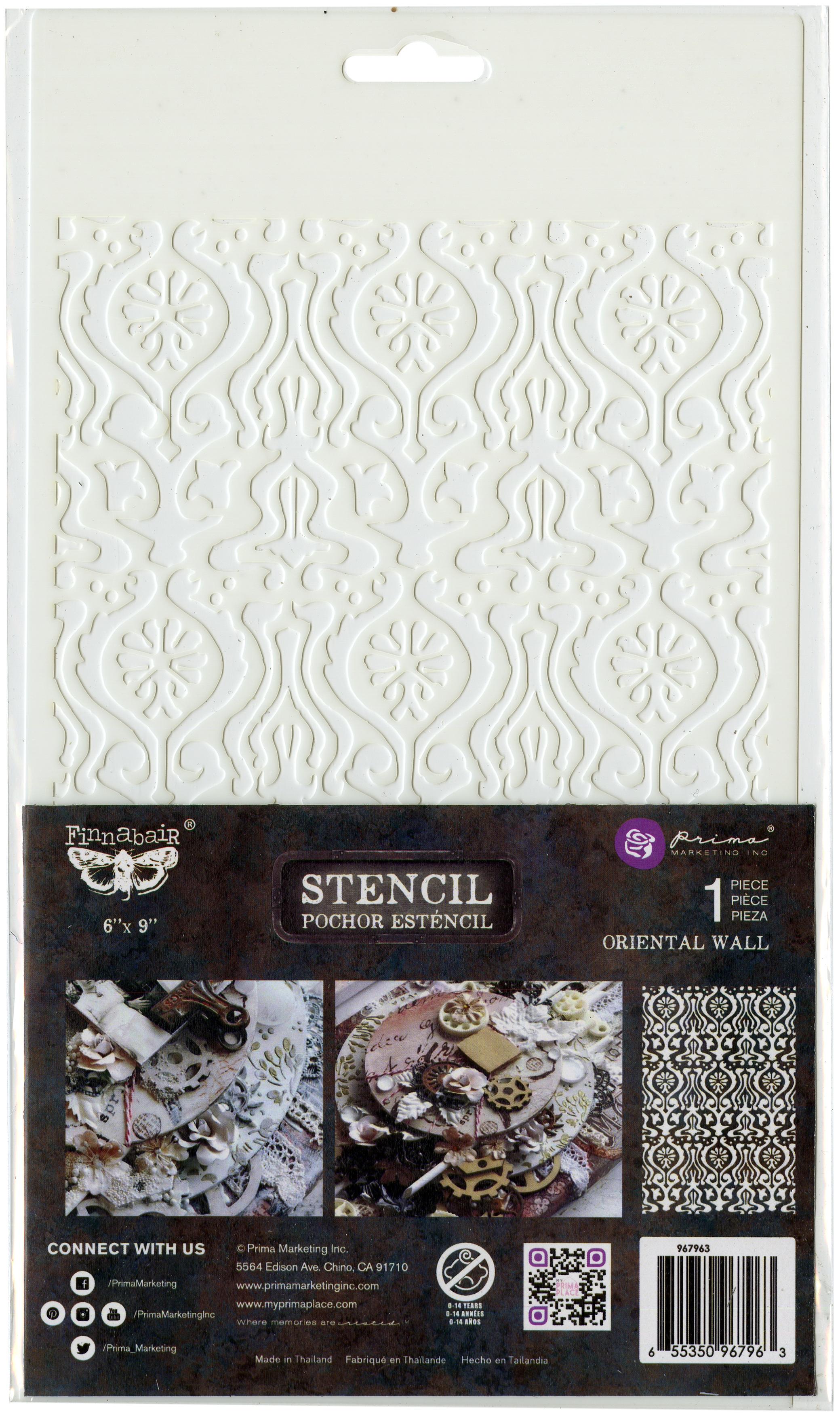 Prima Marketing Stencil 6X9-Oriental Wall