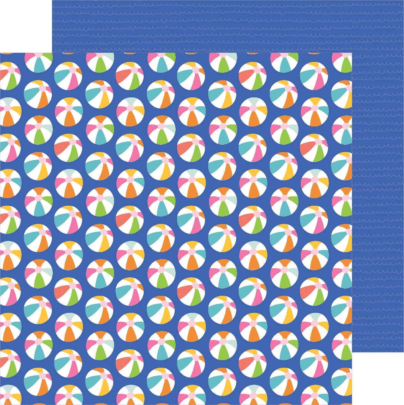 Sun & Fun Double-Sided Cardstock 12X12-Ball Toss