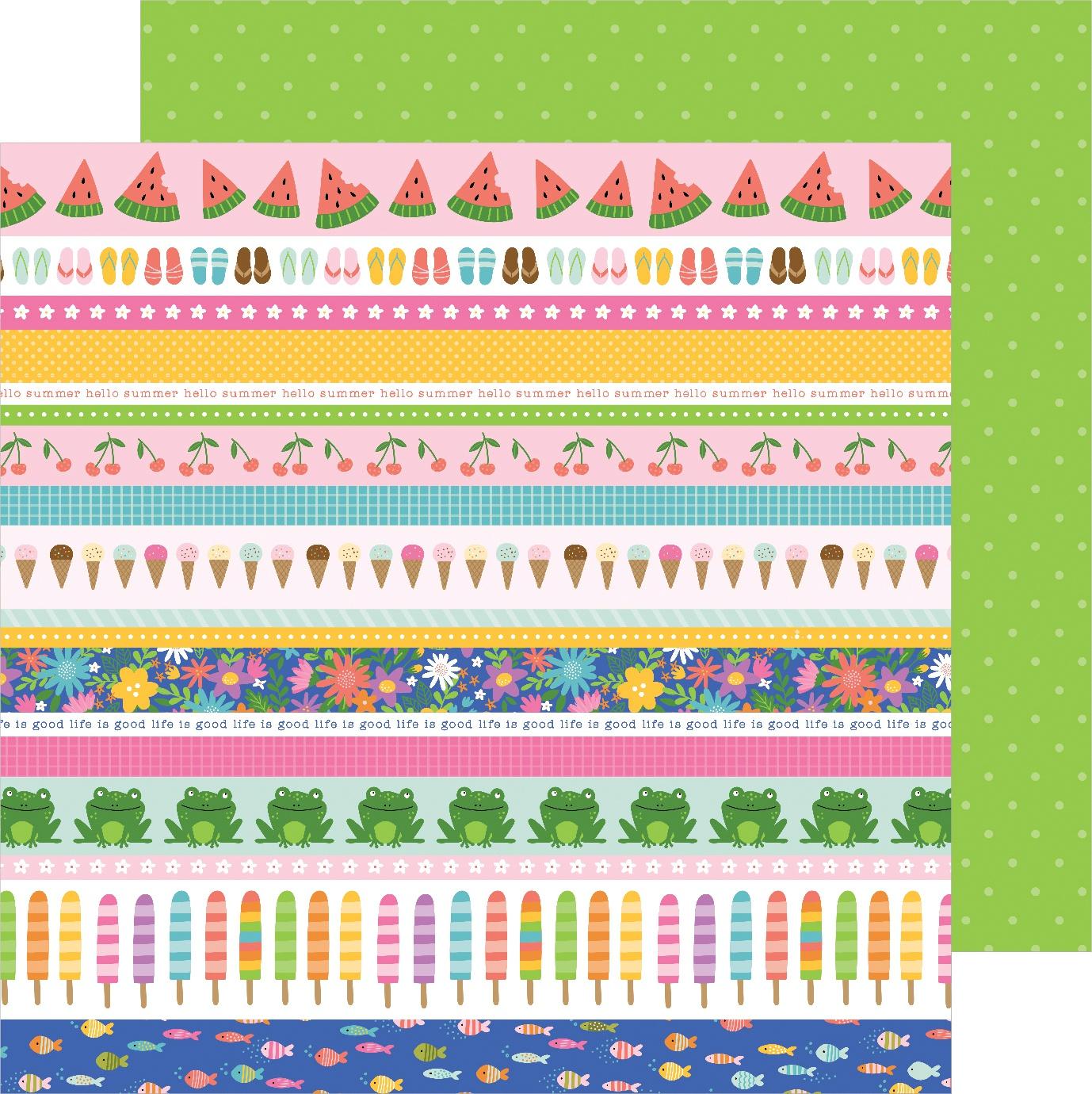 Sun & Fun Double-Sided Cardstock 12X12-Strips