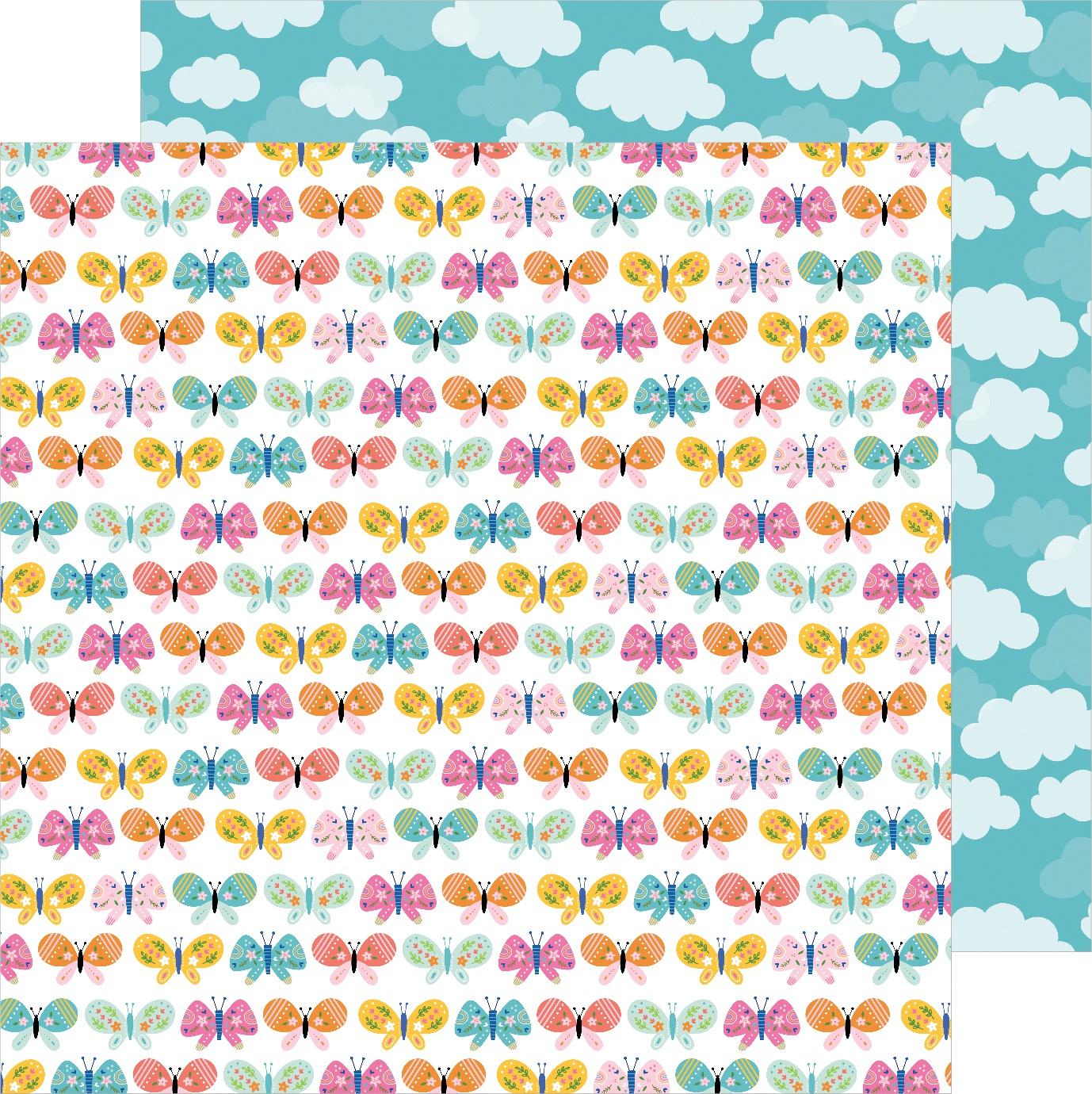 Sun & Fun Double-Sided Cardstock 12X12-Butterfly Love