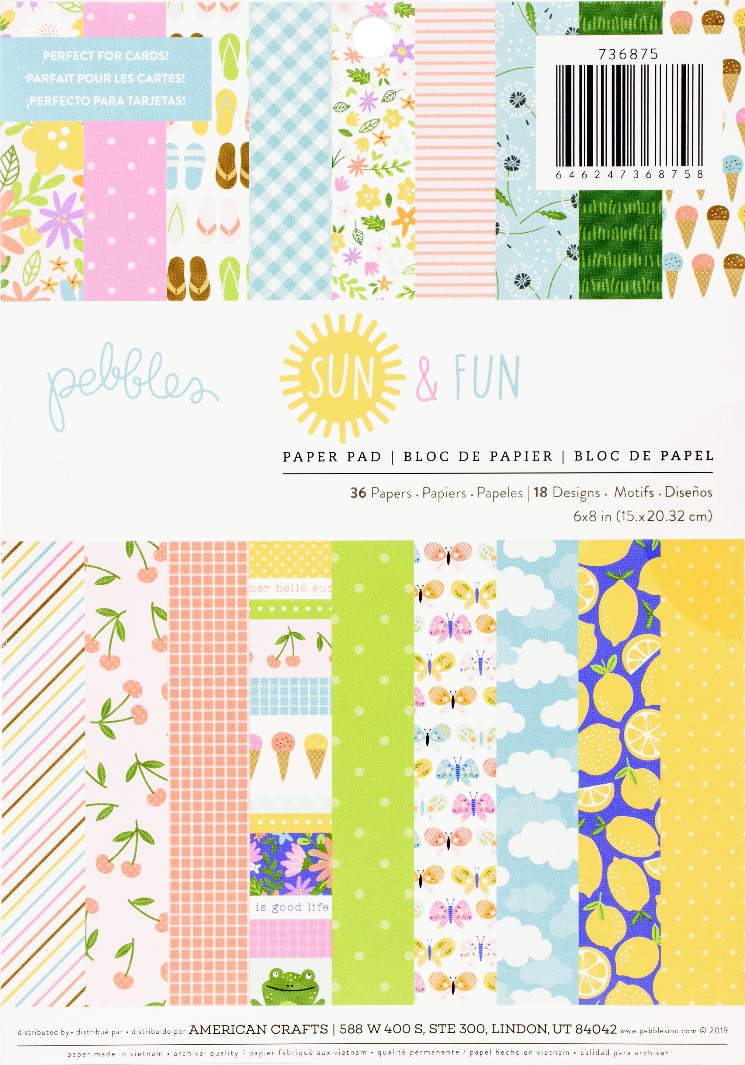 Pebbles Fun & Sun 6x8 paper pad