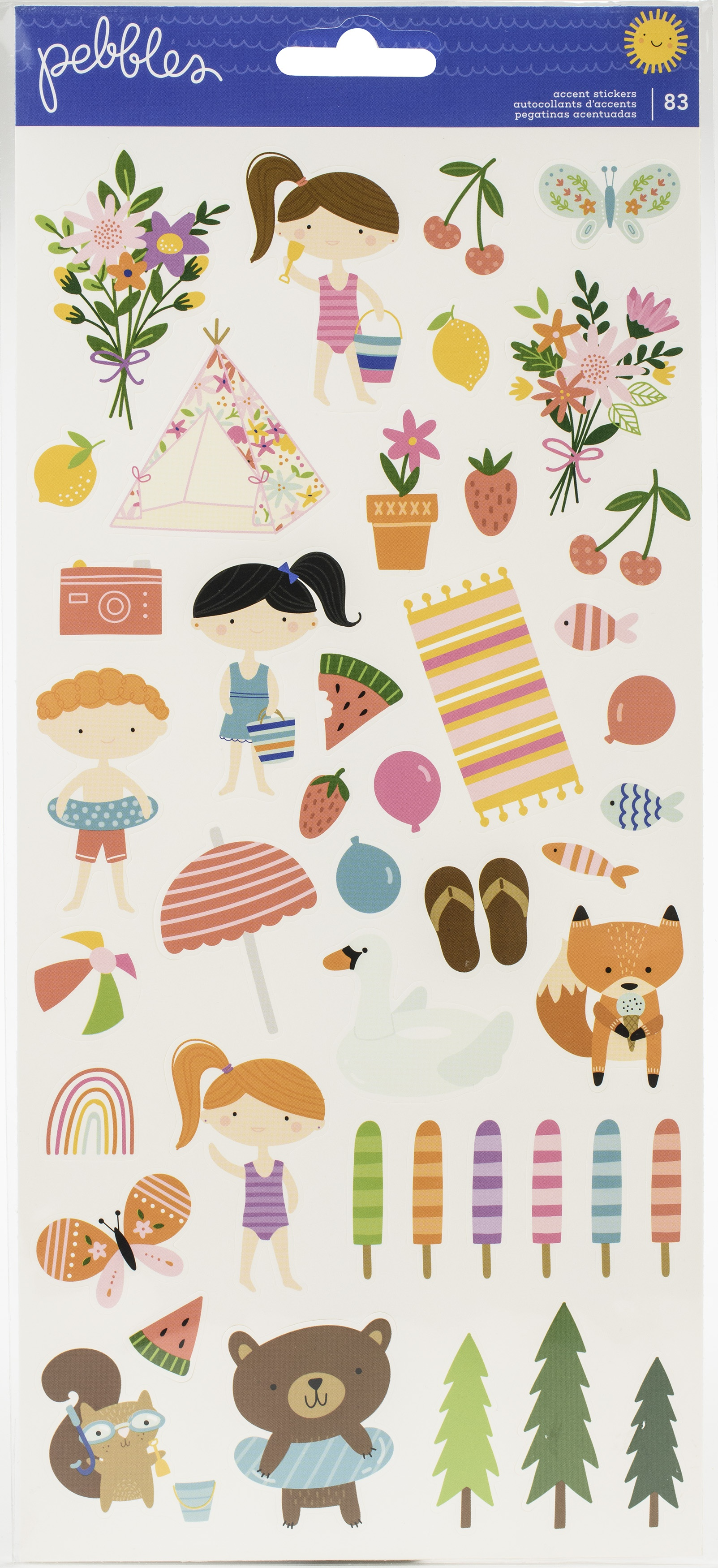 Sun & Fun Cardstock Stickers 6X12 83/Pkg-Icons