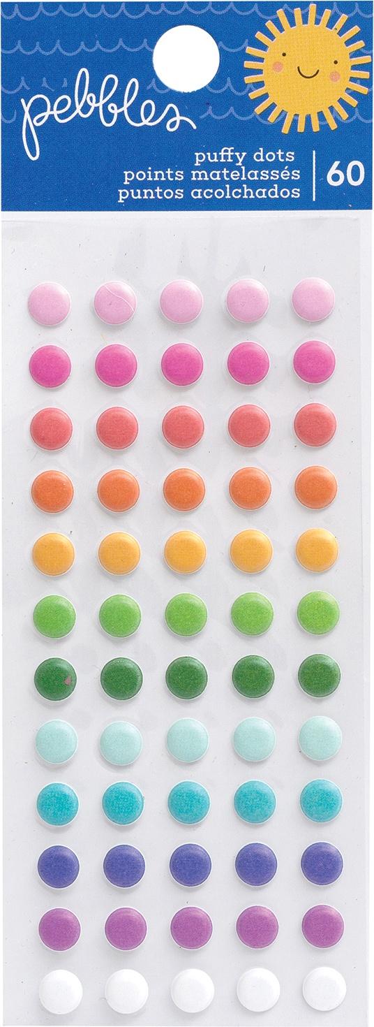 Sun & Fun Puffy Dot Stickers 60/Pkg-