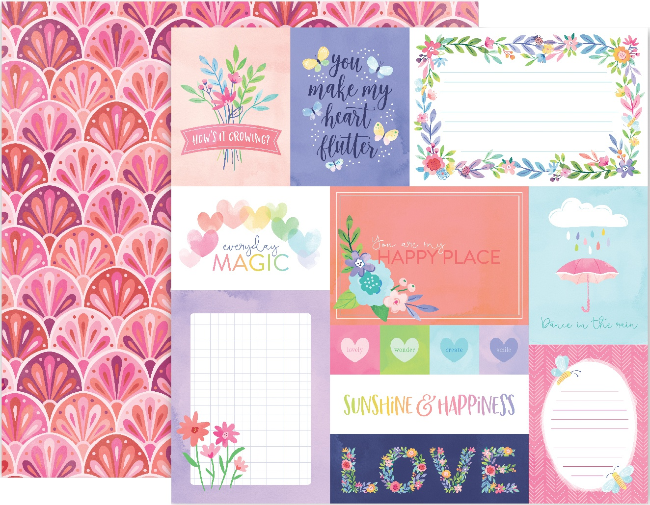 Paige Evans Bloom Street Double-Sided Cardstock 12X12-#1