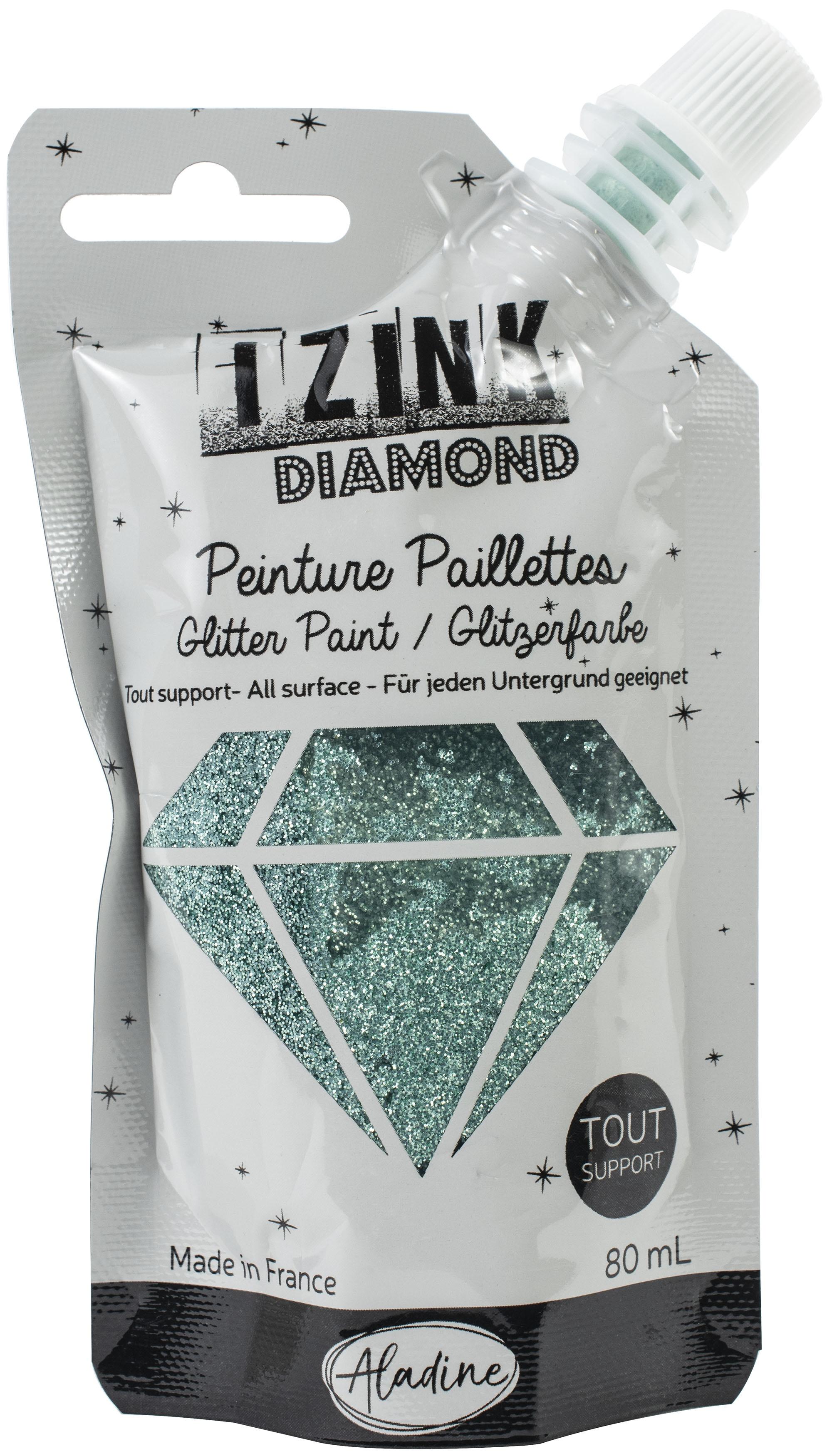 IZINK Diamond Glitter Paint 80ml-Pastel Green