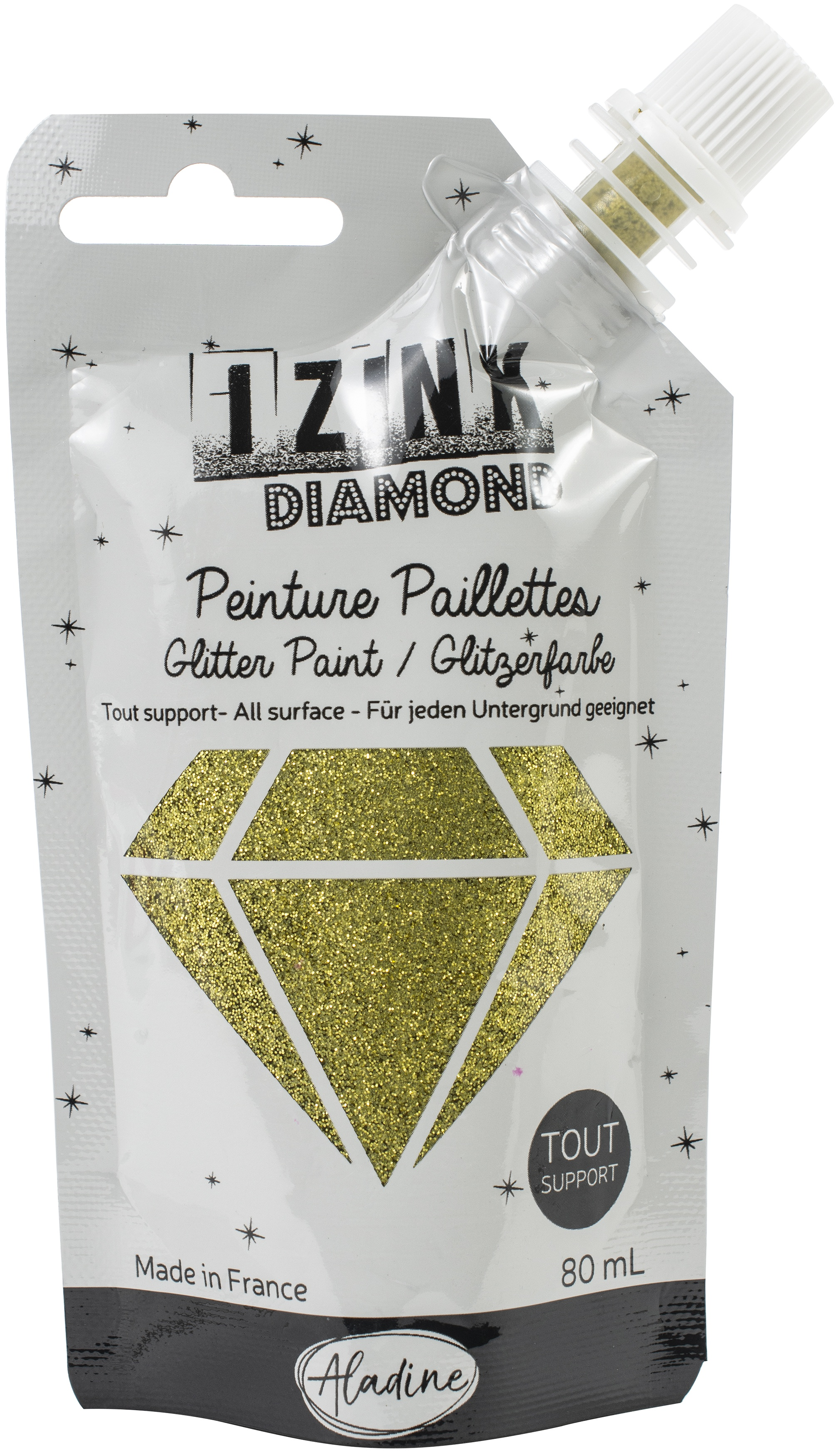 IZINK Diamond Glitter Paint - Dore | Gold
