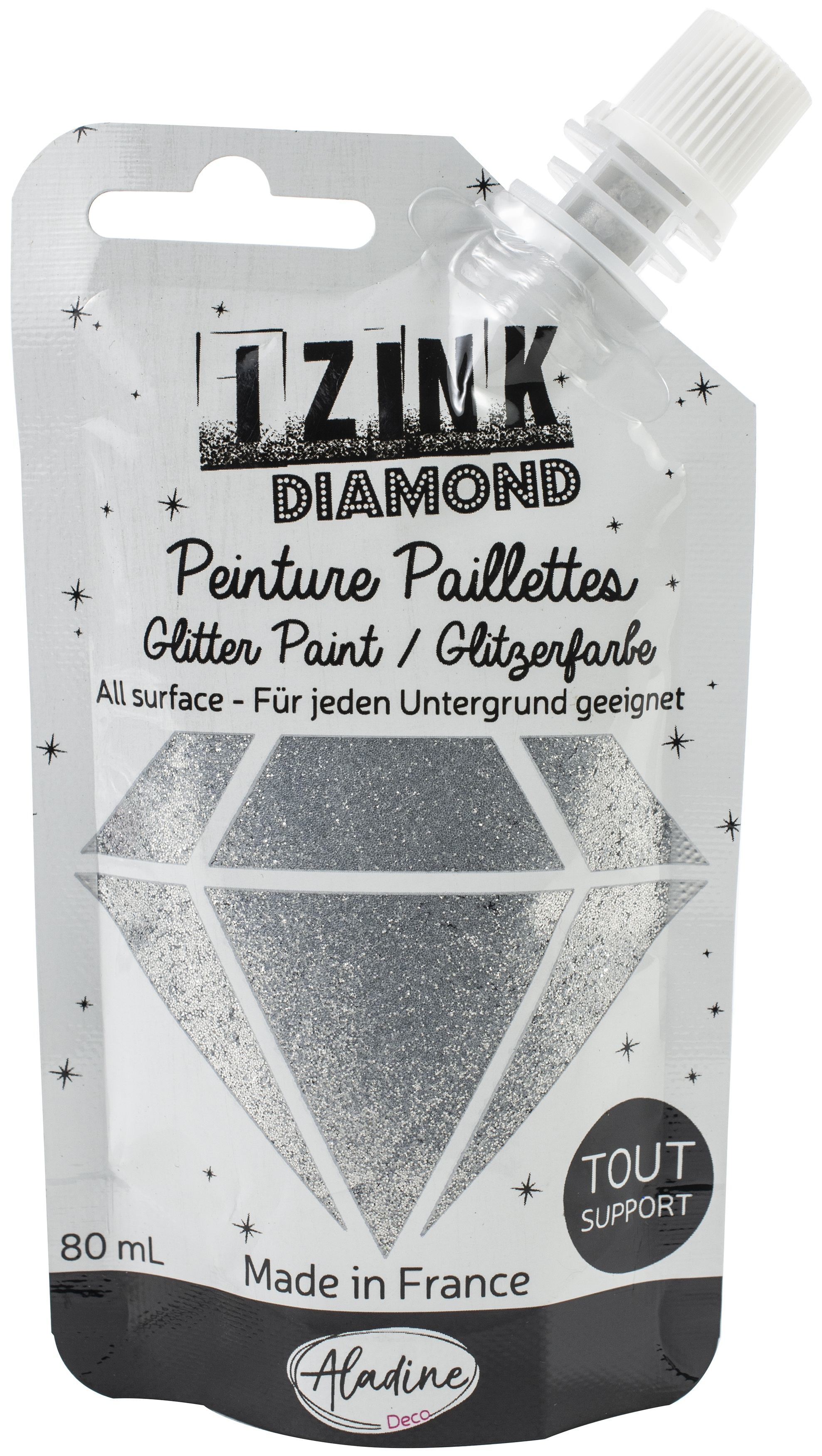 IZINK Diamond Glitter Paint - Argente   Silver