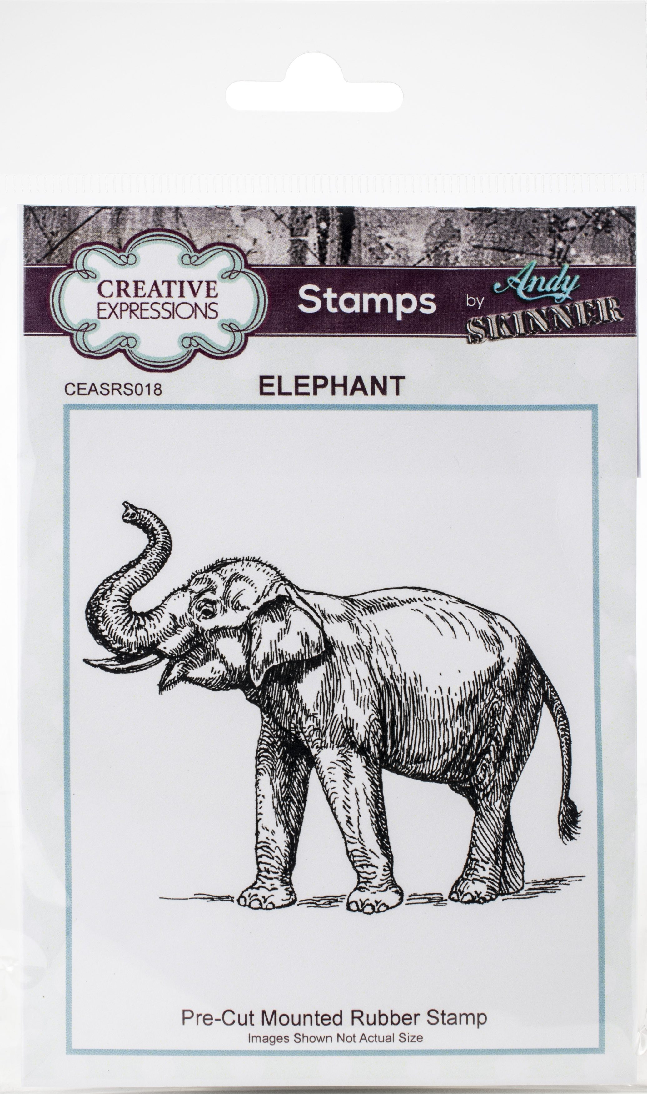 Creative Expressions Rubber Stamp By Andy Skinner-Elephant