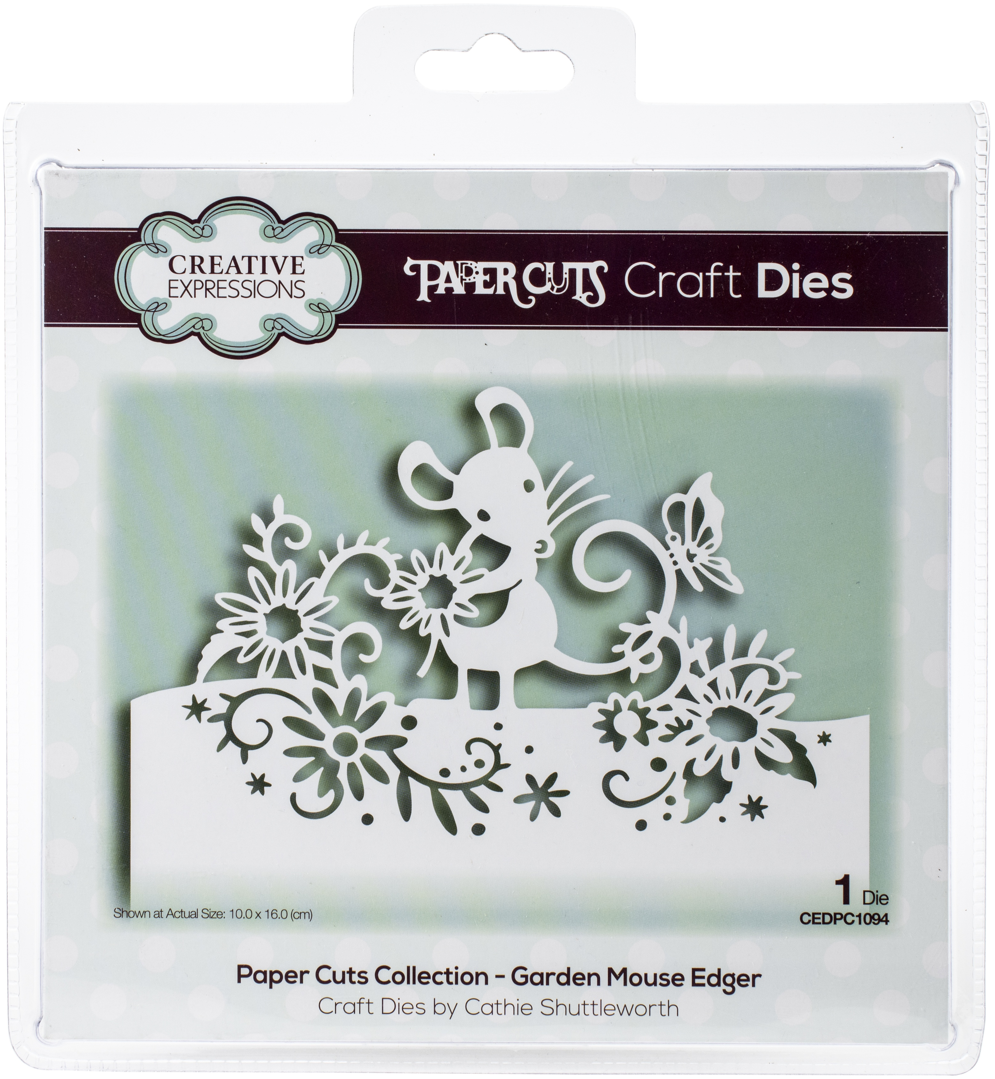 Creative Expressions Paper Cuts Edger Craft Dies-Garden Mouse