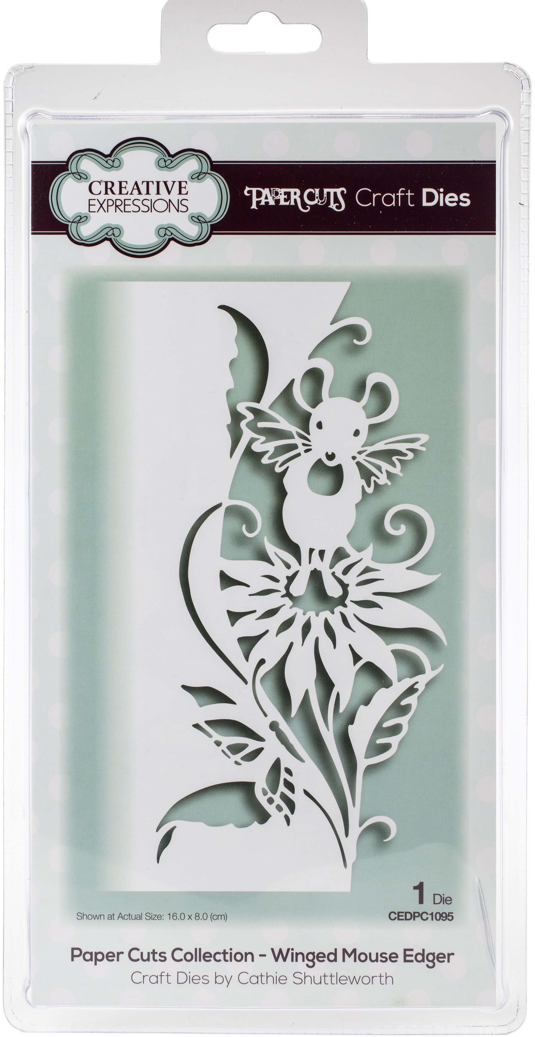 Creative Expressions Paper Cuts Edger Craft Dies-Winged Mouse
