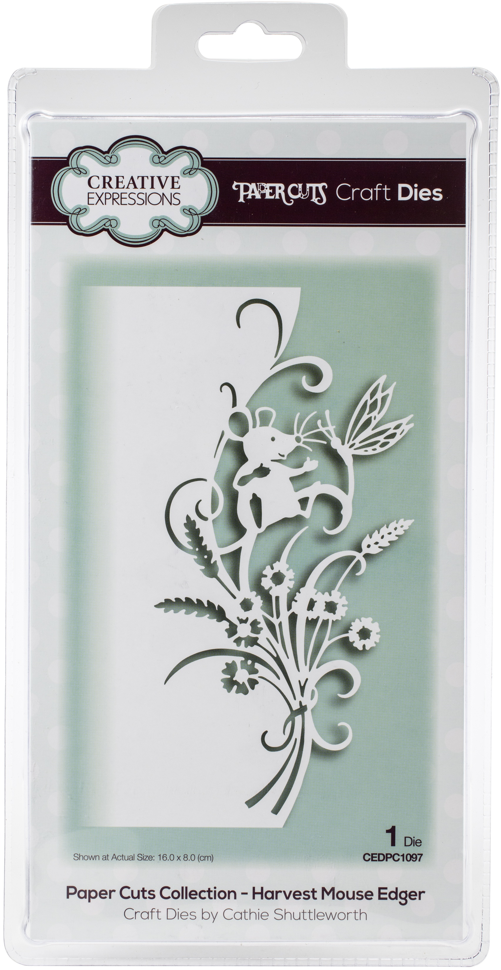 Creative Expressions Paper Cuts Edger Craft Dies-Harvest Mouse