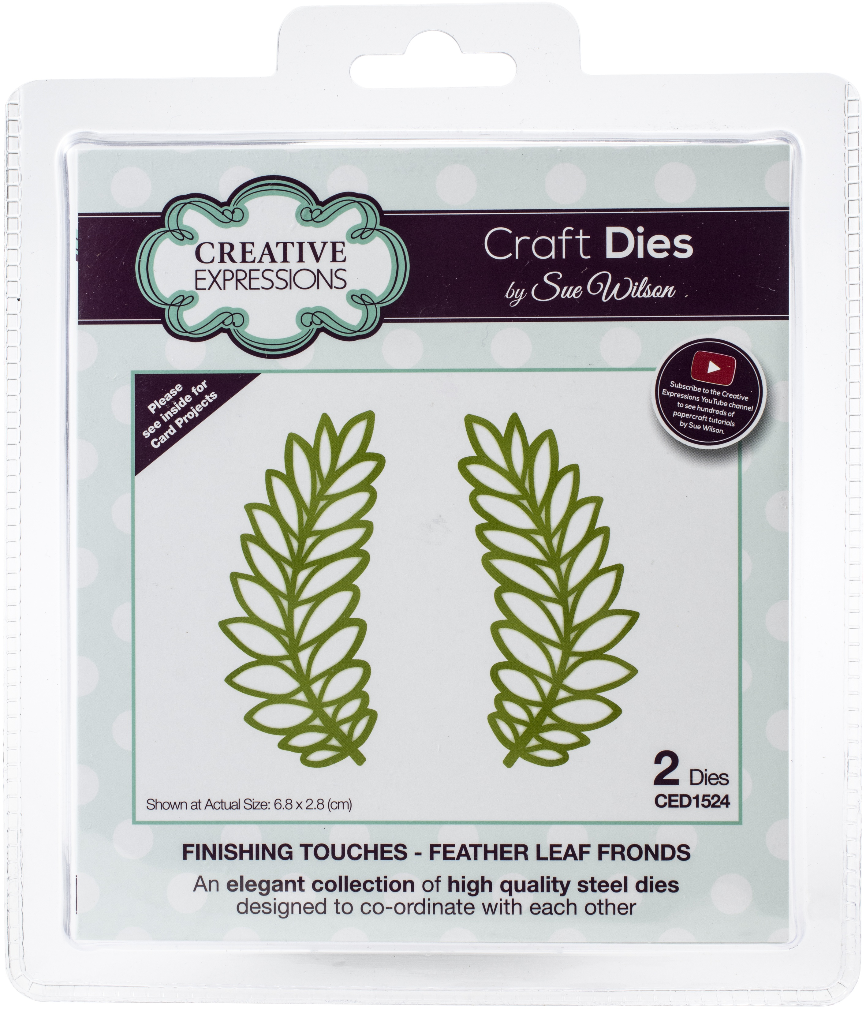 Creative Expressions Craft Dies By Sue Wilson-Finshing Touches-Feather Leaf Fron...