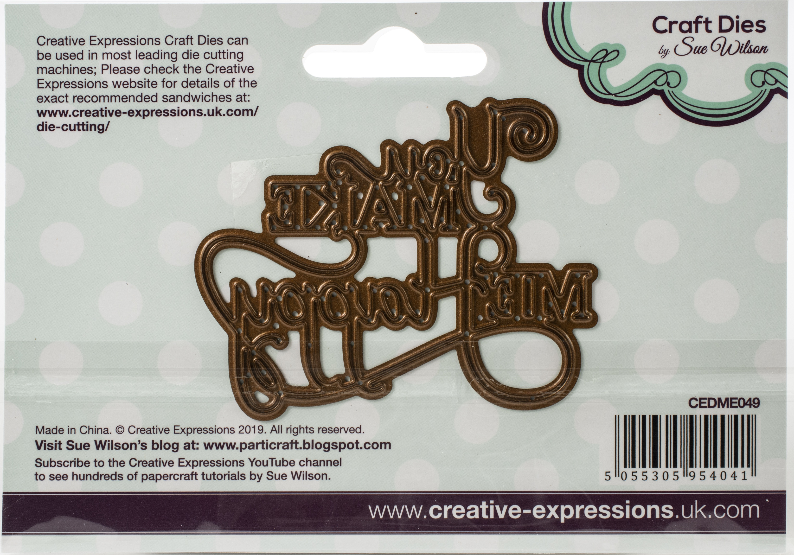 Creative Expressions Craft Dies By Sue Wilson-Mini Expressions- You Make Me Happ...